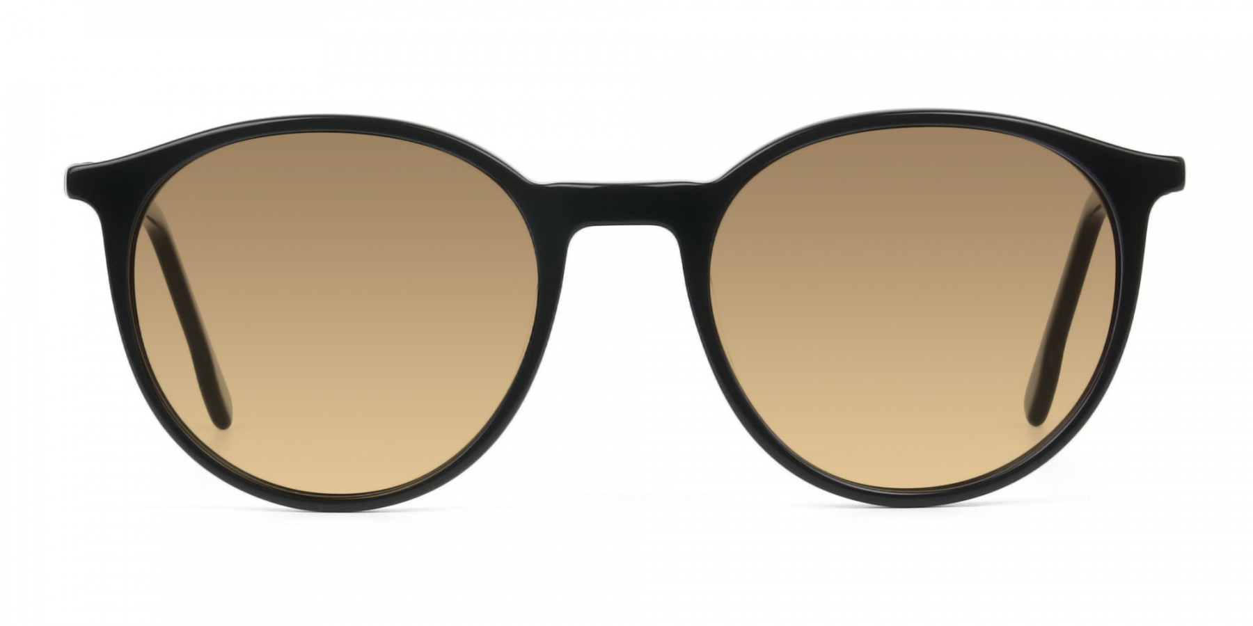 Dark-brown-black-round-sunglasses - 3
