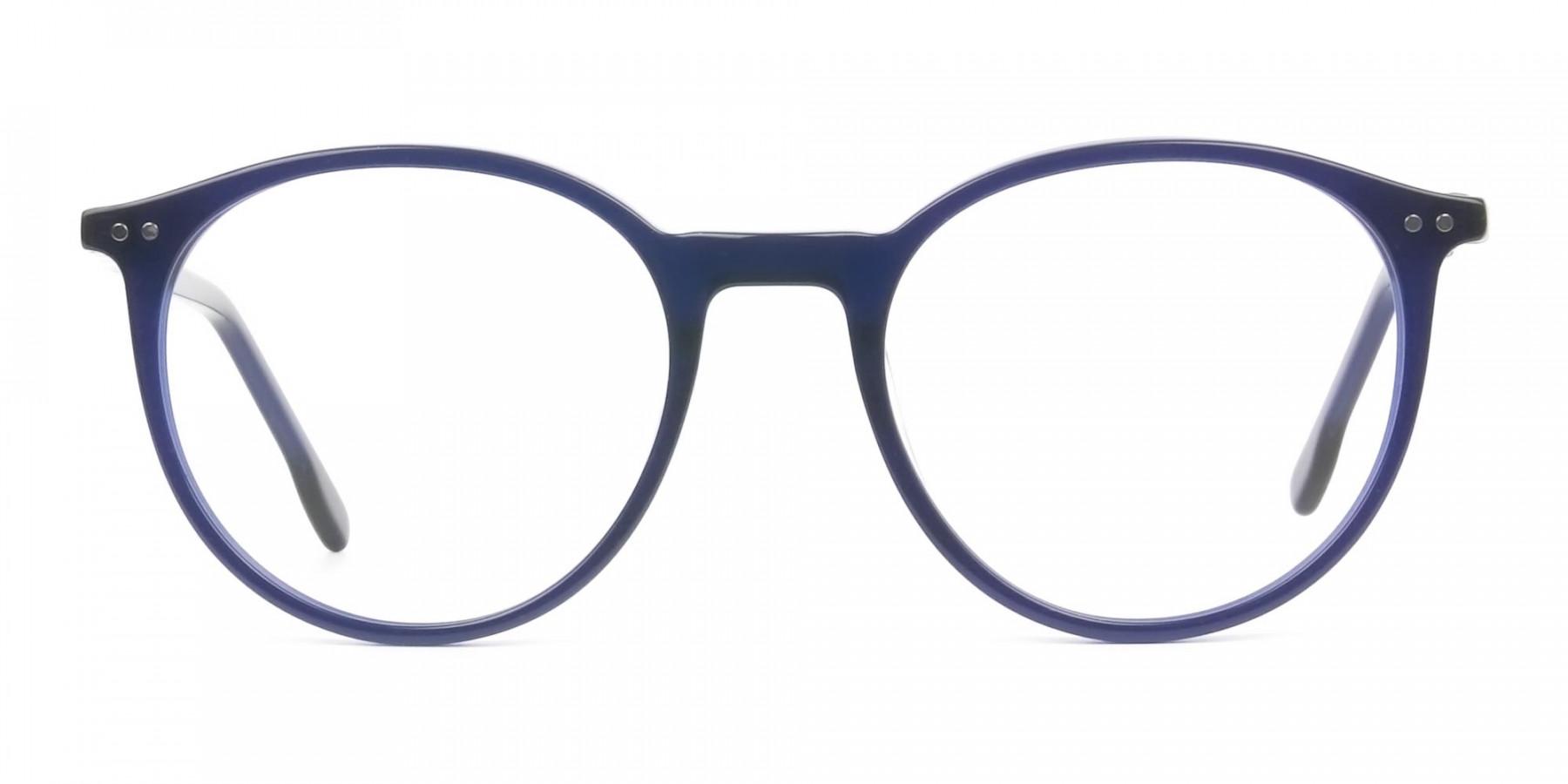 Designer Navy Blue Acetate Eyeglasses  - 1