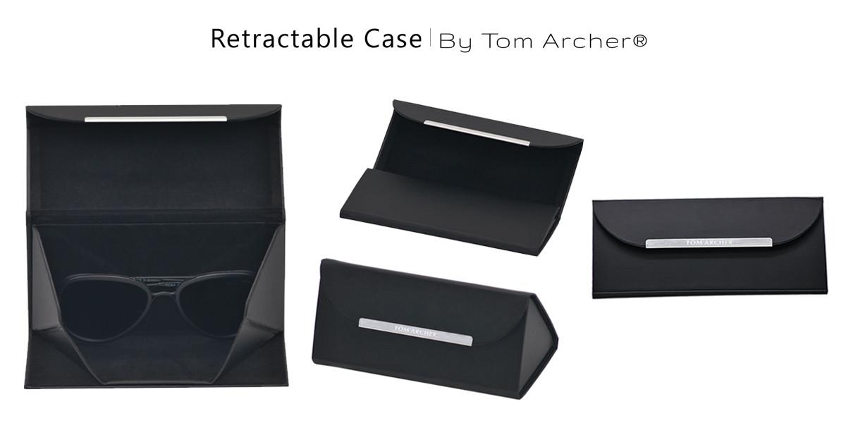 Sleek Bold Black Rectangular Sunglasses -2