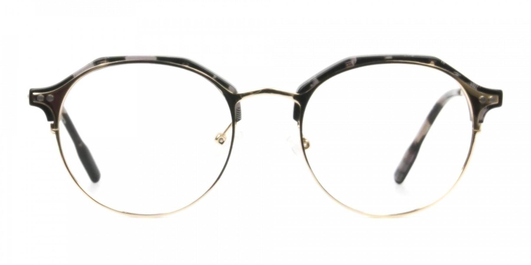 Marble Grey & Gold Weightless Glasses in Mixed material  - 1