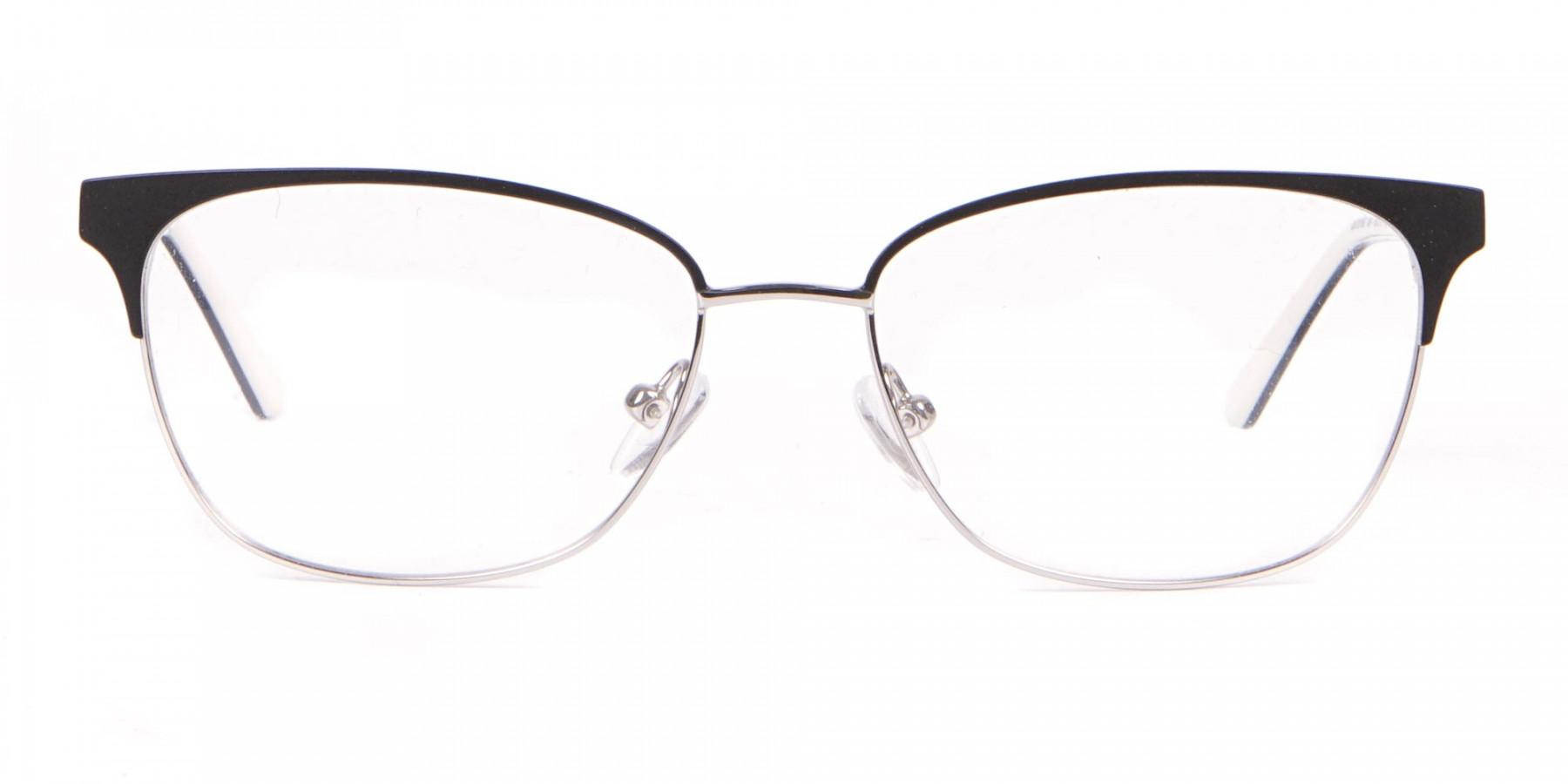 Calvin Klein CK18108 Women Rectangular Metal Glasses Black-1