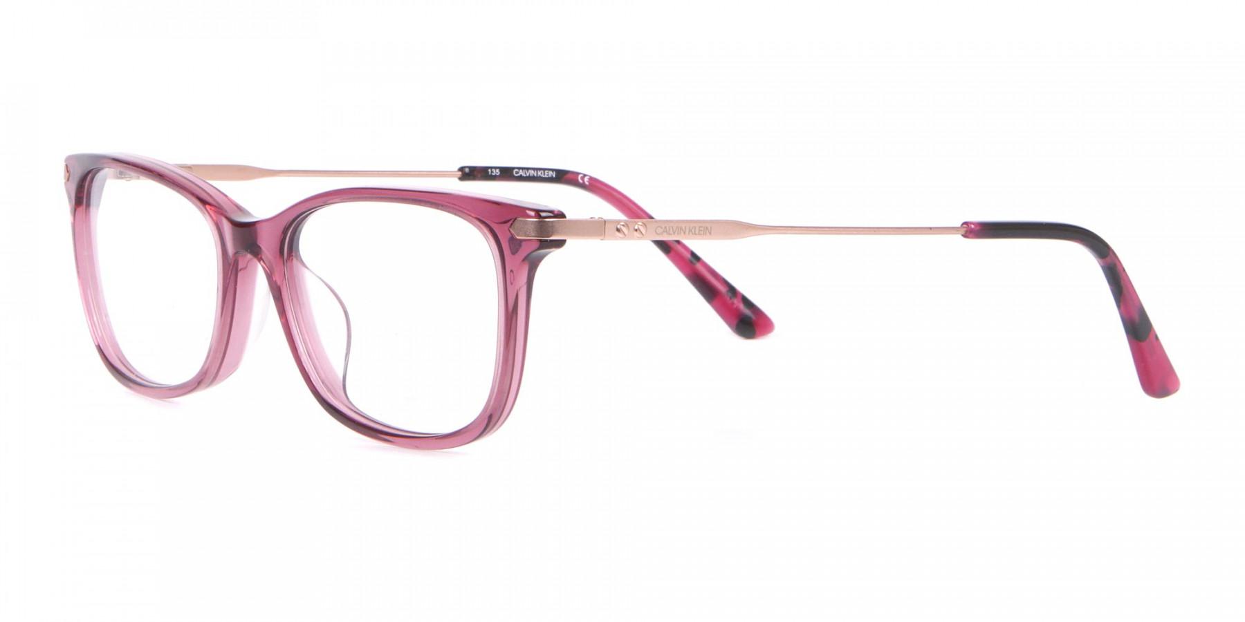 Calvin Klein CK18722 Cat-Eye Rectangular Frame Rosy Pink-1