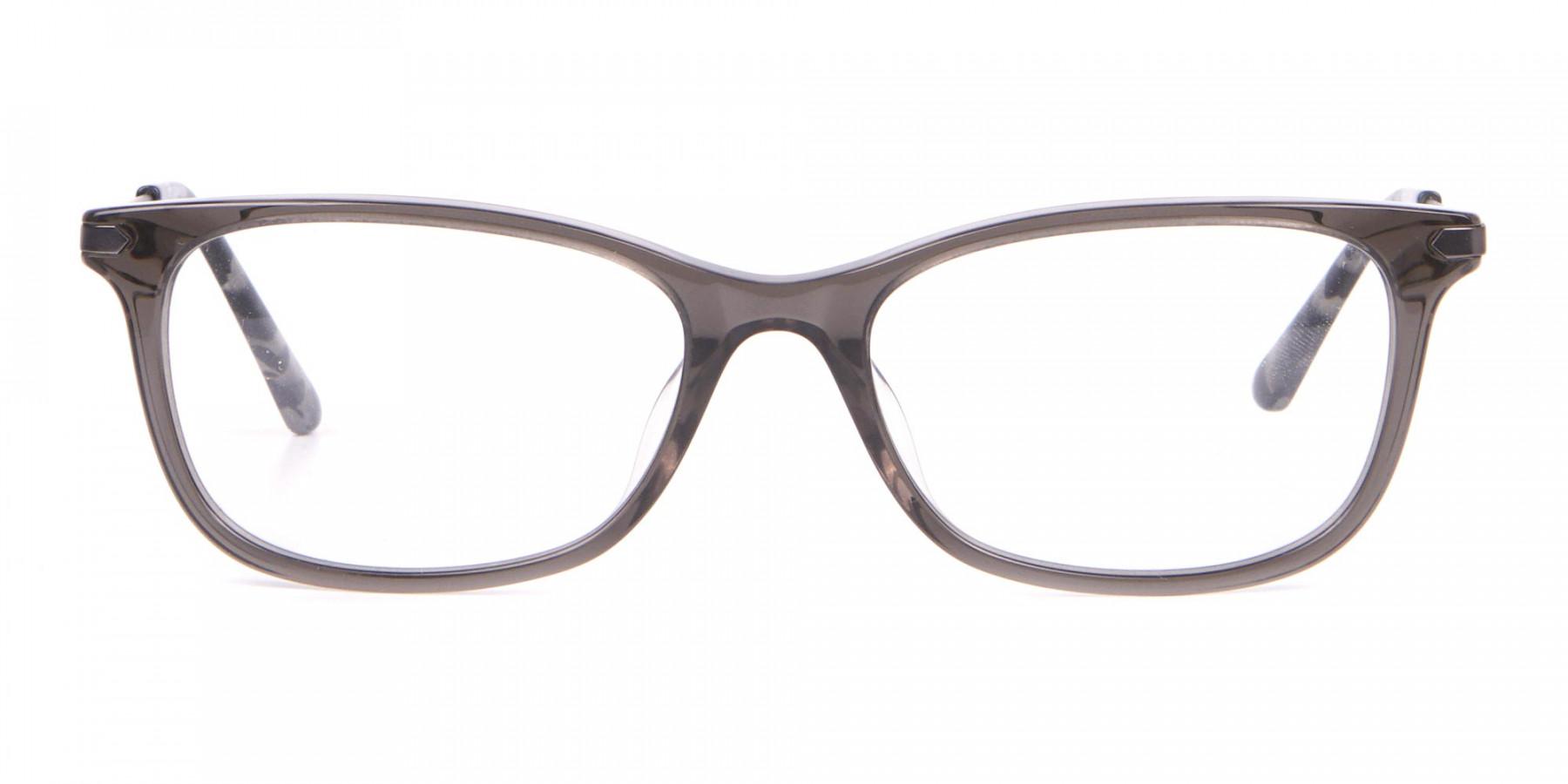 Calvin Klein CK18722 Crystal Black Cat-Eye Rectangular Frame-1