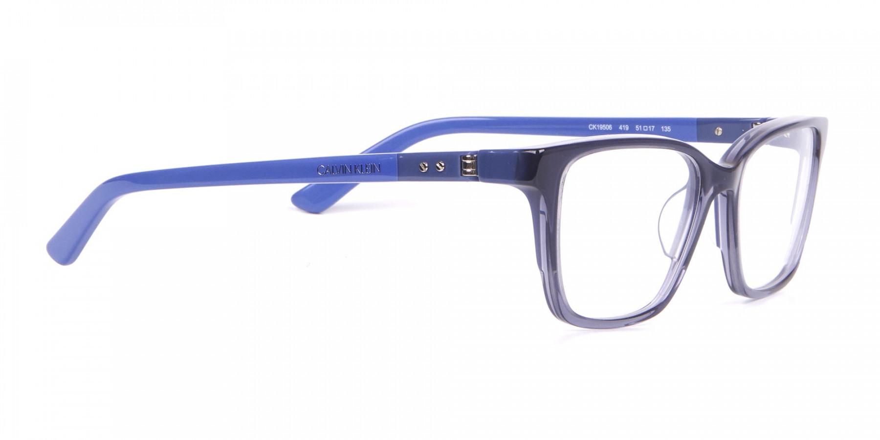 Calvin Klein CK19506 Two-Toned Retangular Glasses In Blue-1