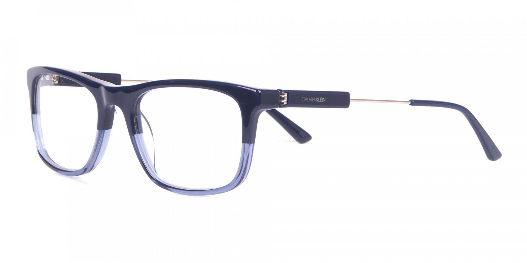Calvin Klein CK19707 Two-Tone Rectangular Glasses Navy-1