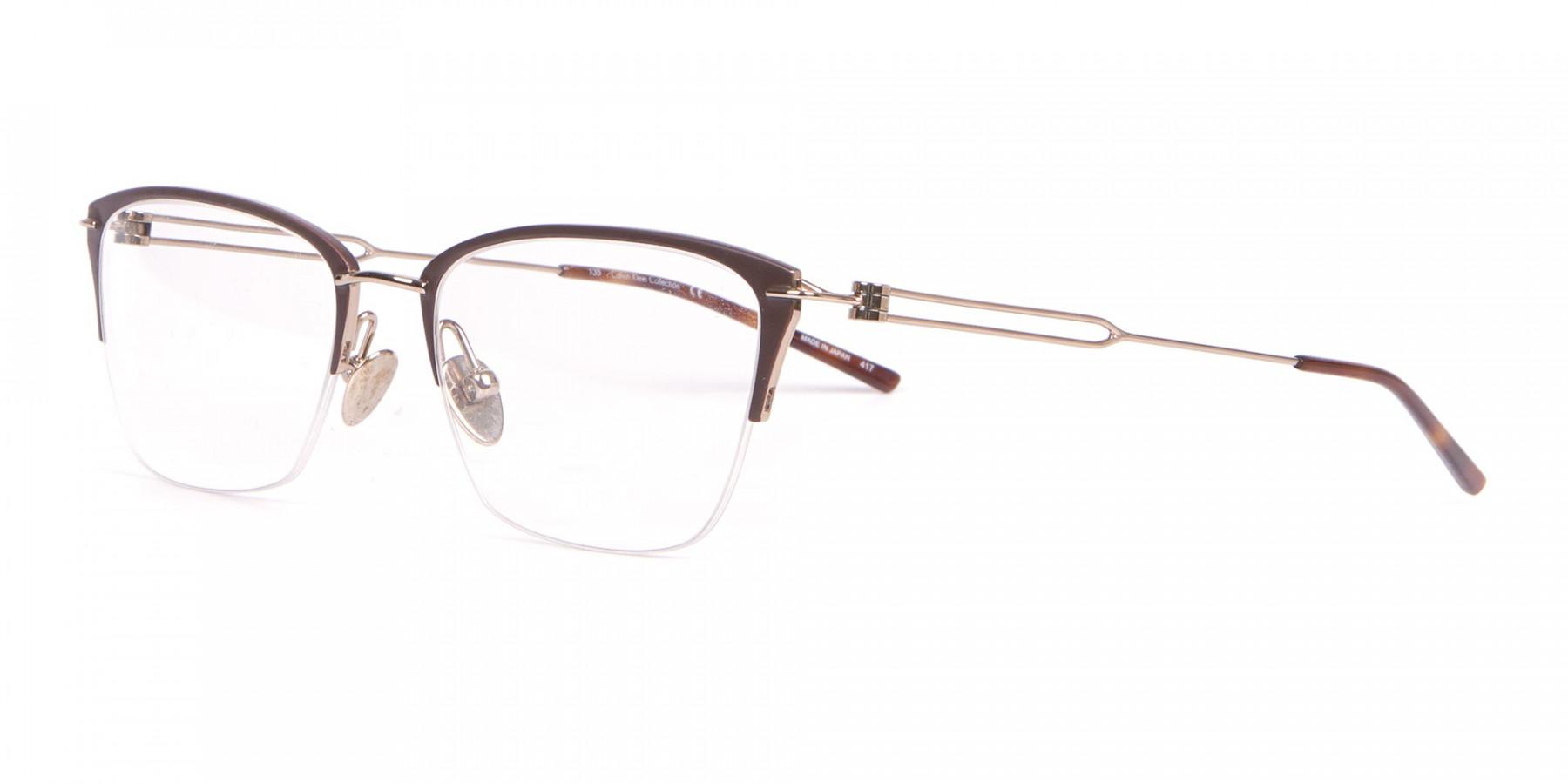 Calvin Klein CK8065 Women Half-Rimmed Glasses Matte Black-1
