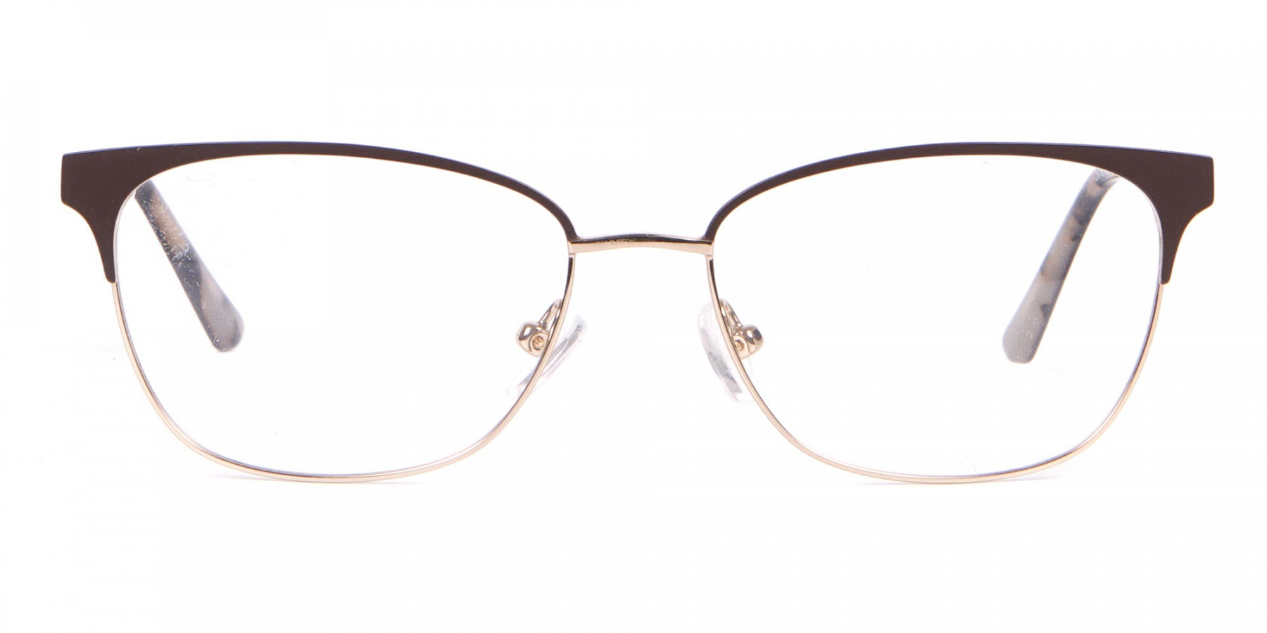 Calvin Klein CK18108 Women Rectangular Metal Glasses Brown-1