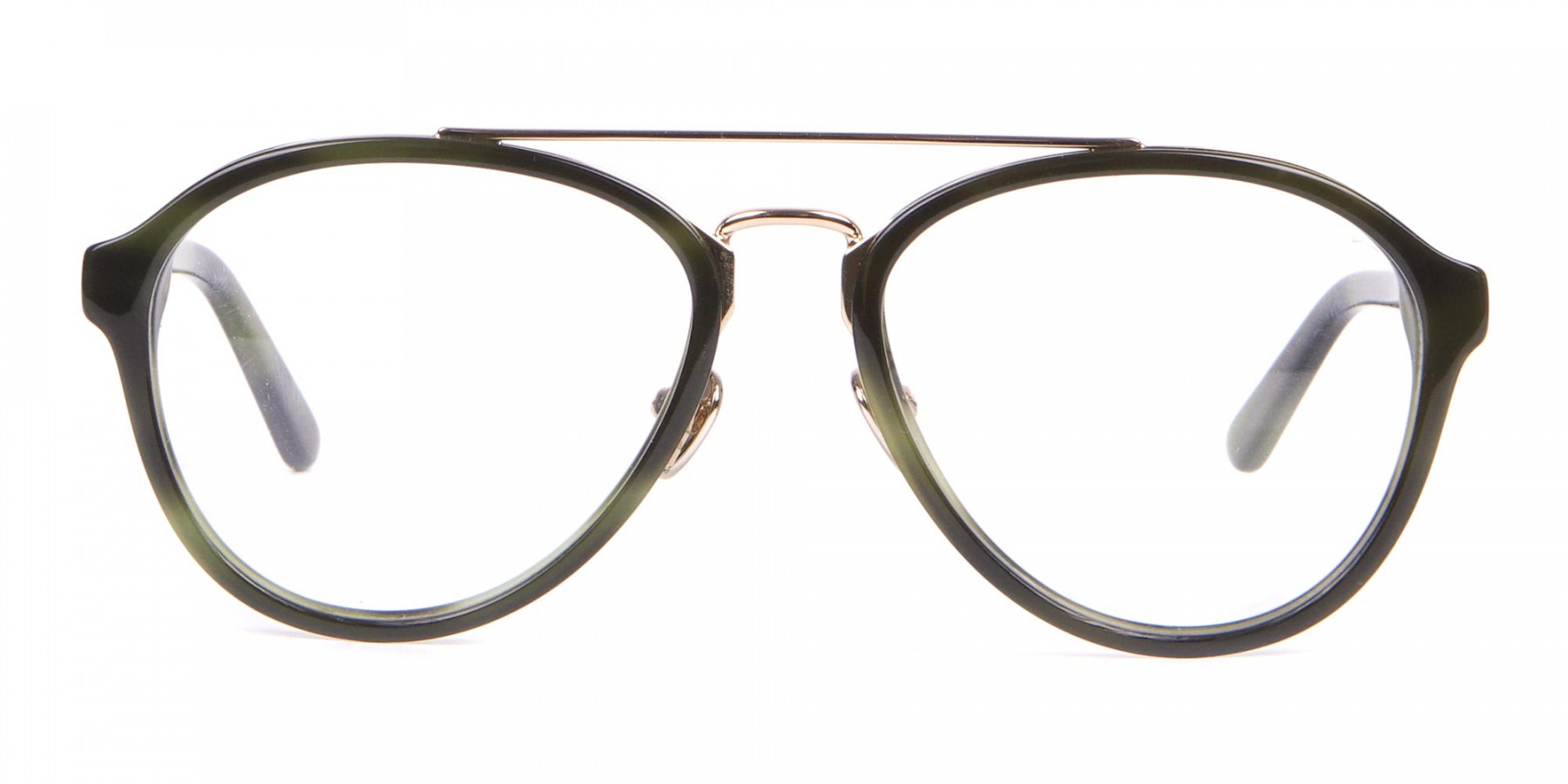 Clavin Klein CK18511 Aviator Pilot Glasses Green Tortoise-1