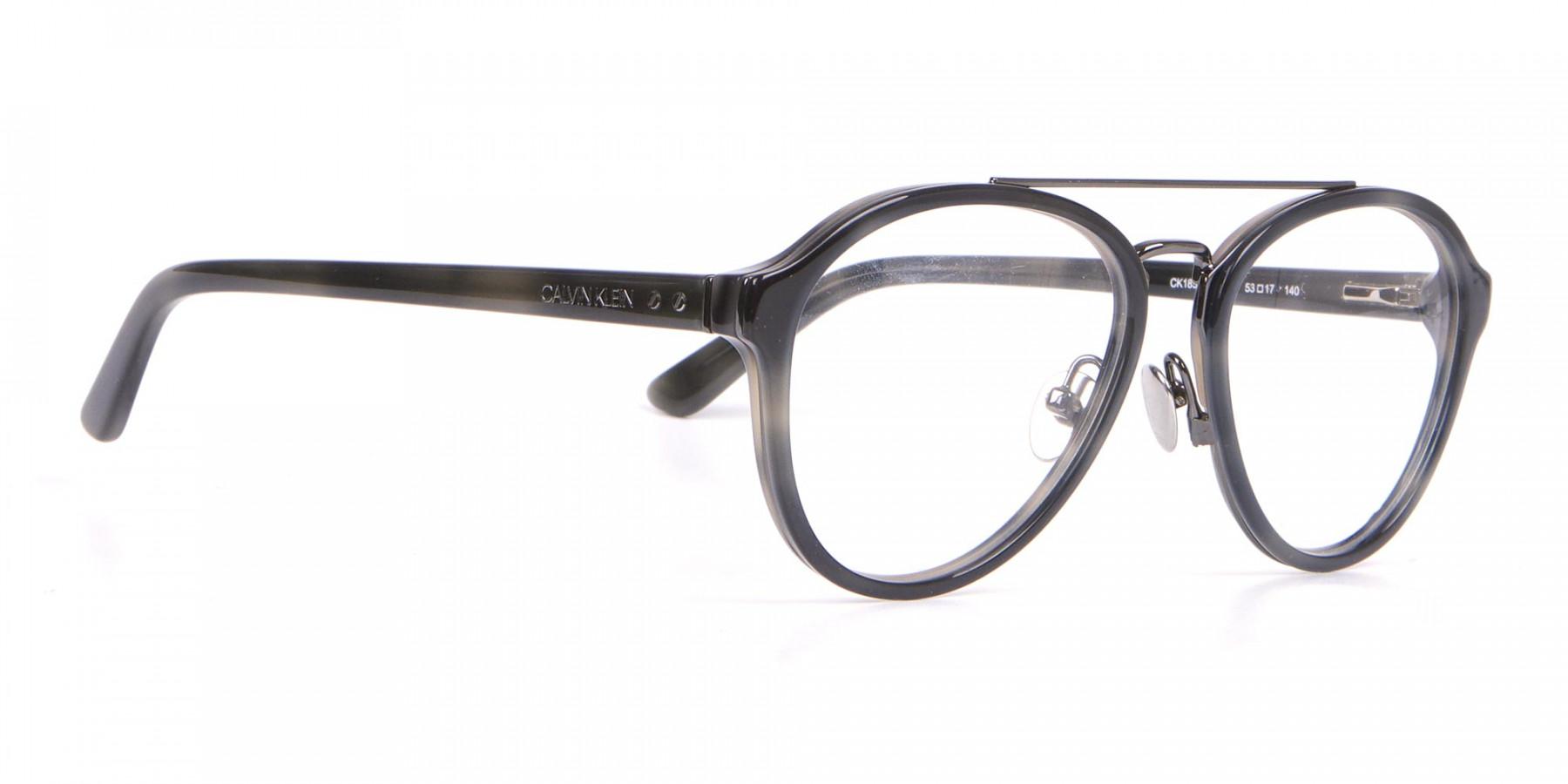 Clavin Klein CK18511 Aviator Pilot Glasses Grey Tortoise-1