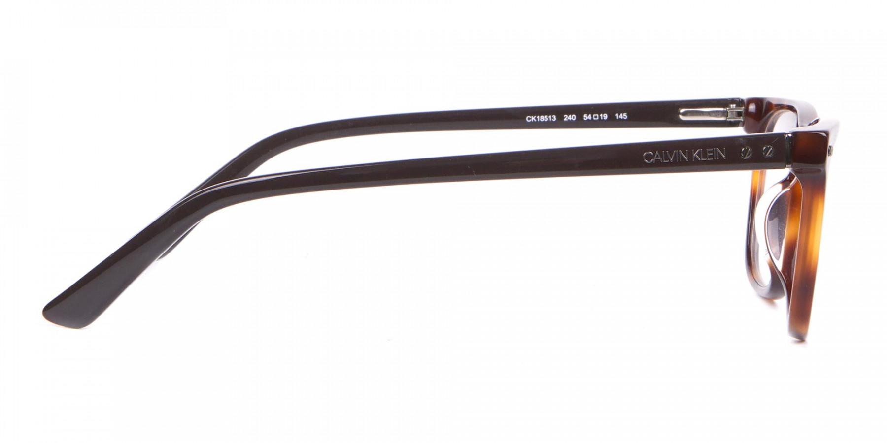 Calvin Klein CK18513 Rectangular Glasses in Brown Tortoise-1