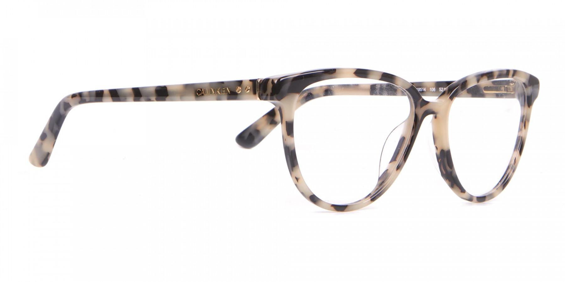 Calvin Klein CK18514 Women Cateye Glasses Cream Tortoise-1