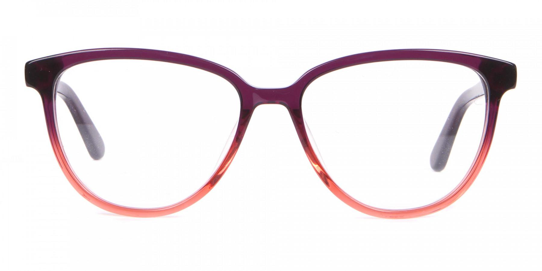 Calvin Klein CK18514 Women Cateye Glasses In Plum Coral-1