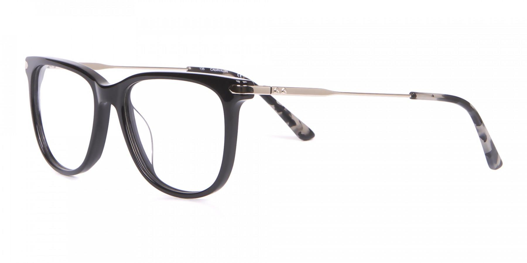 Calvin Klein CK19704 Wayfarer Glasses In Glossy Black-1