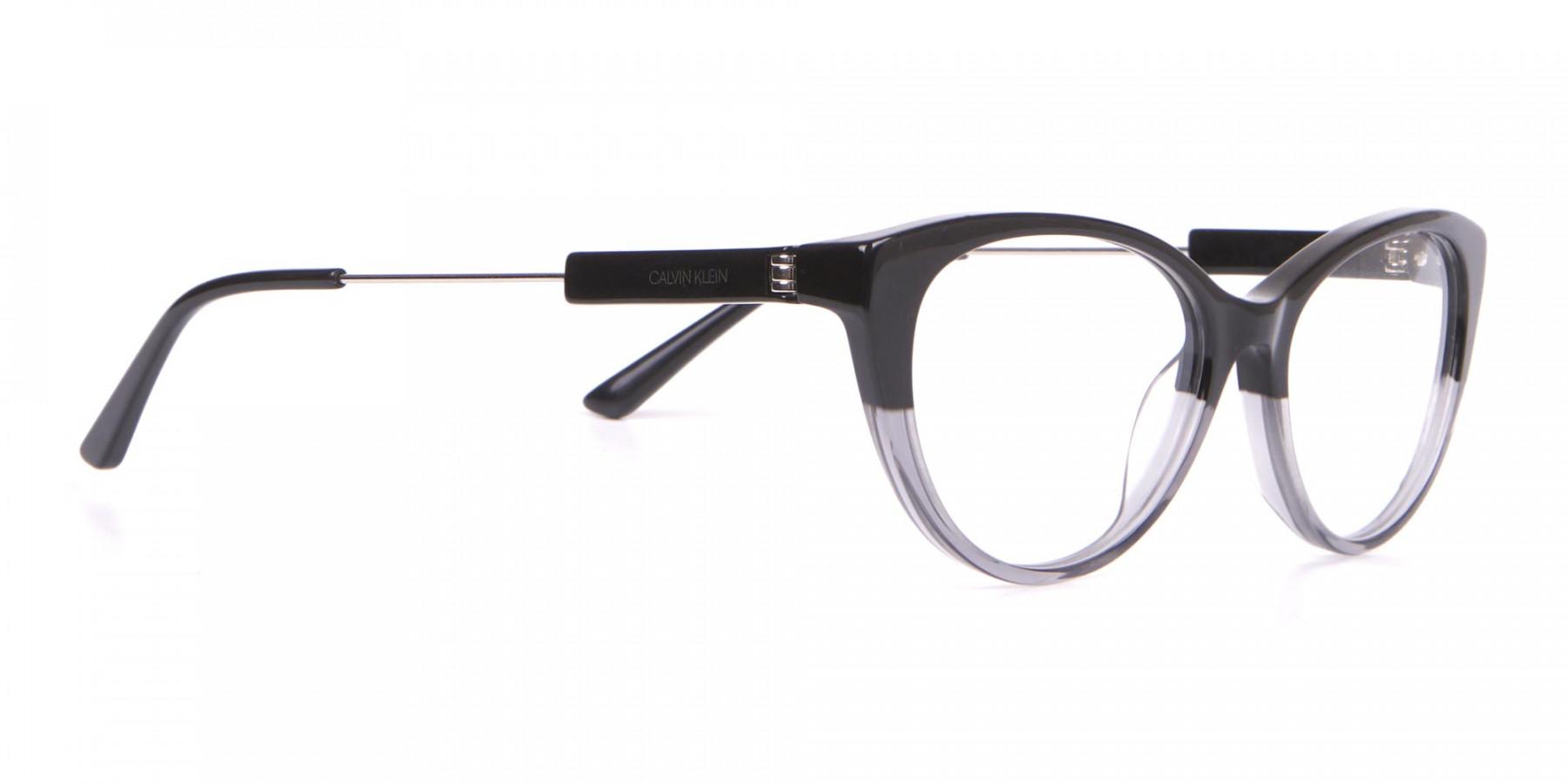 Calvin Klein CK19706 Women Two Tone Cat-Eye Glasses Black-1