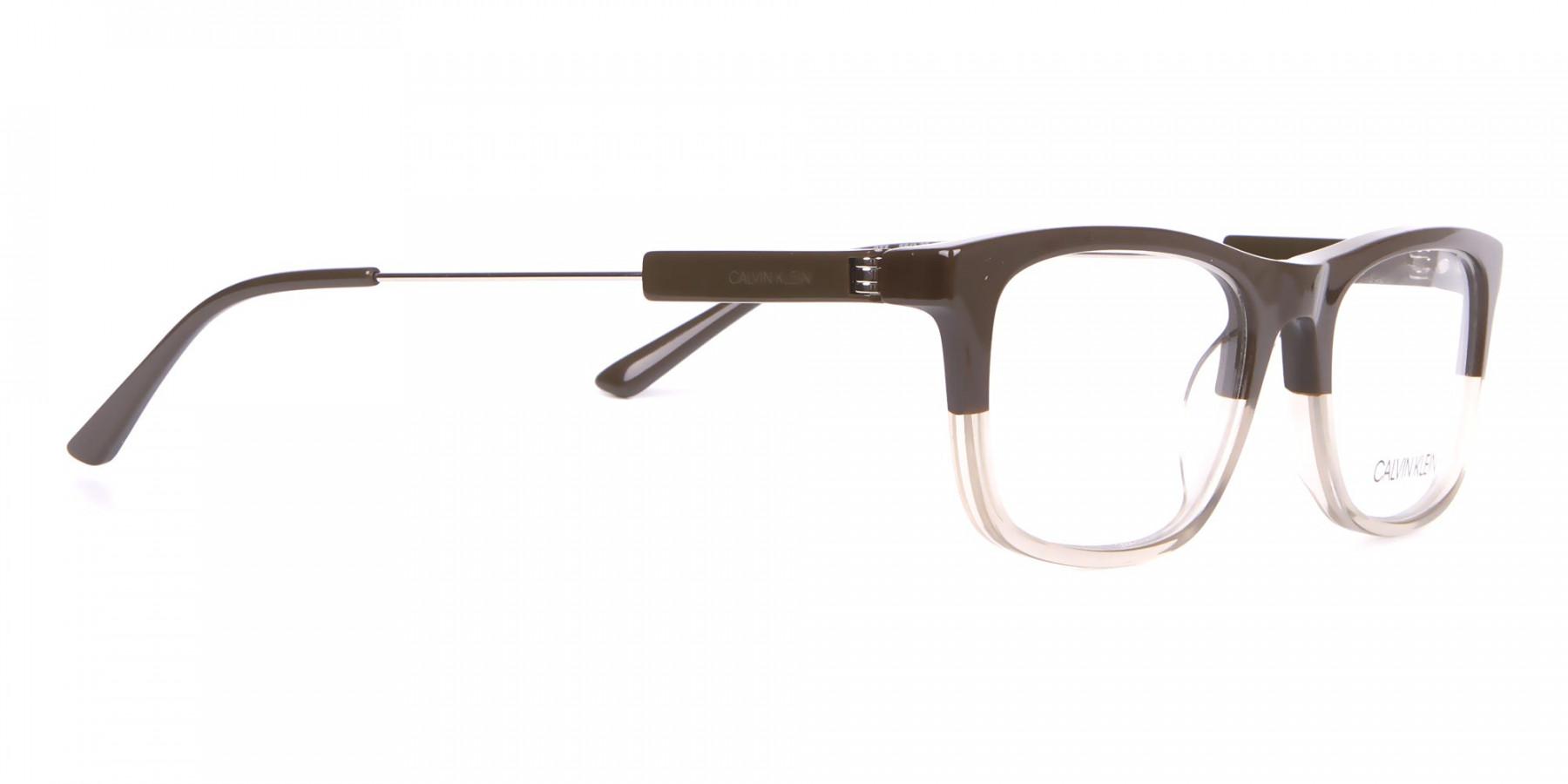 Calvin Klein CK19707 Two-Tone Rectangular Glasses In Brown-1