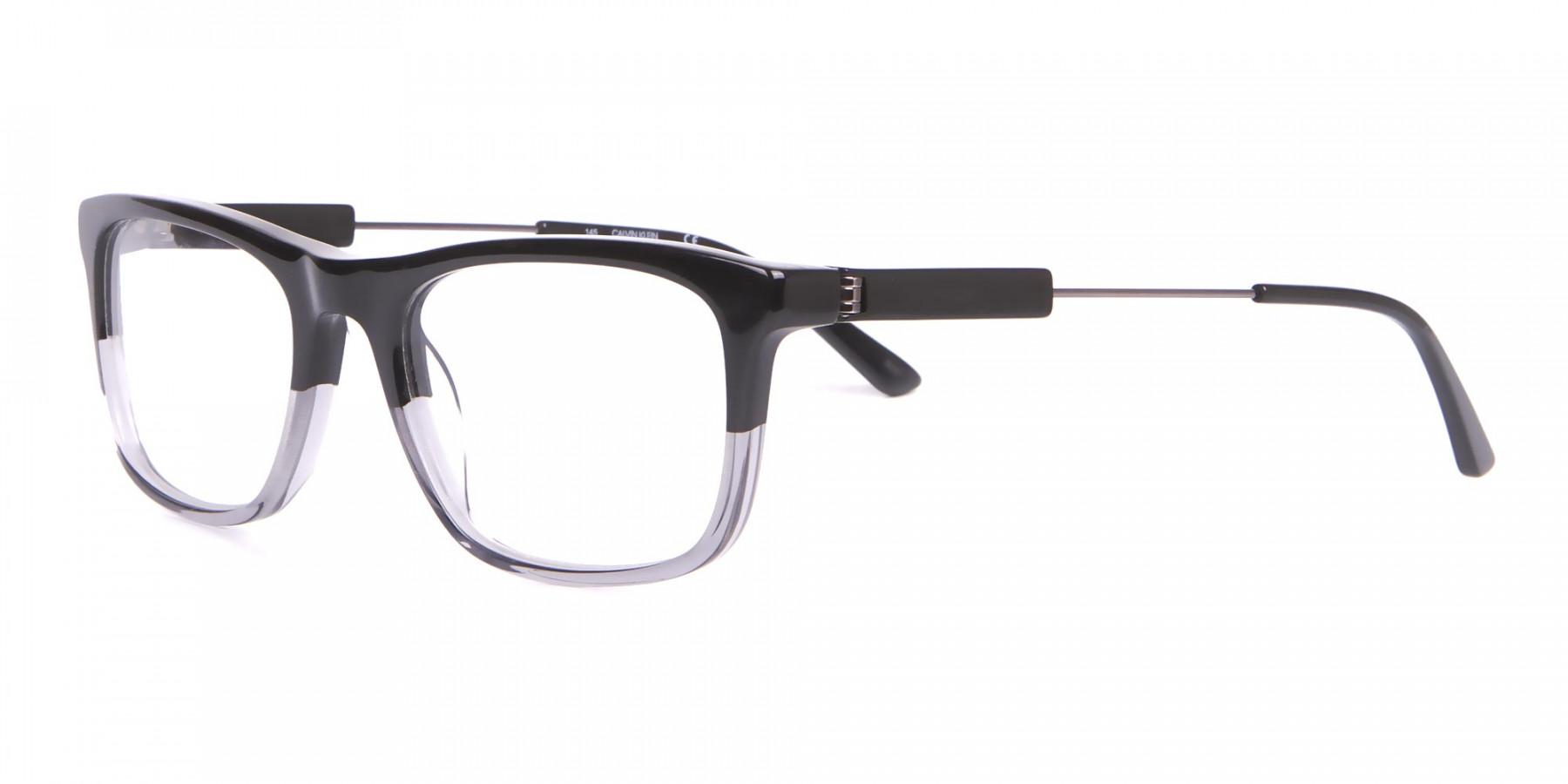 Calvin Klein CK19707 Two-Tone Rectangular Glasses In Black-1