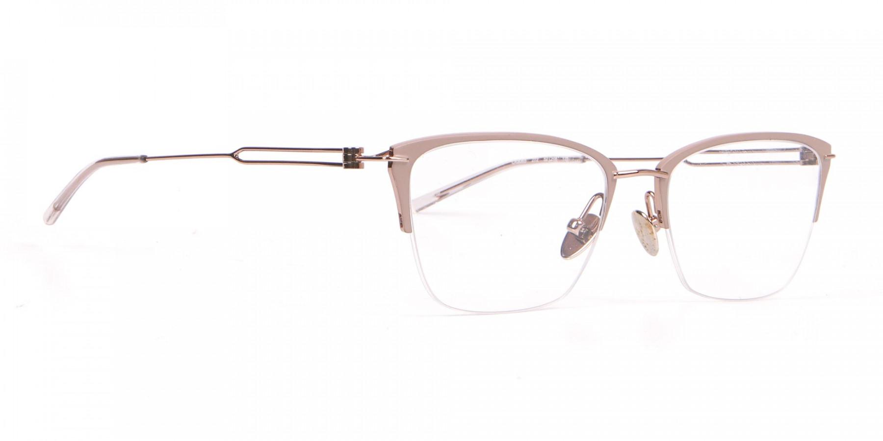 Calvin Klein CK8065 Women Titanium Half-Rimmed Glasses Nude-1