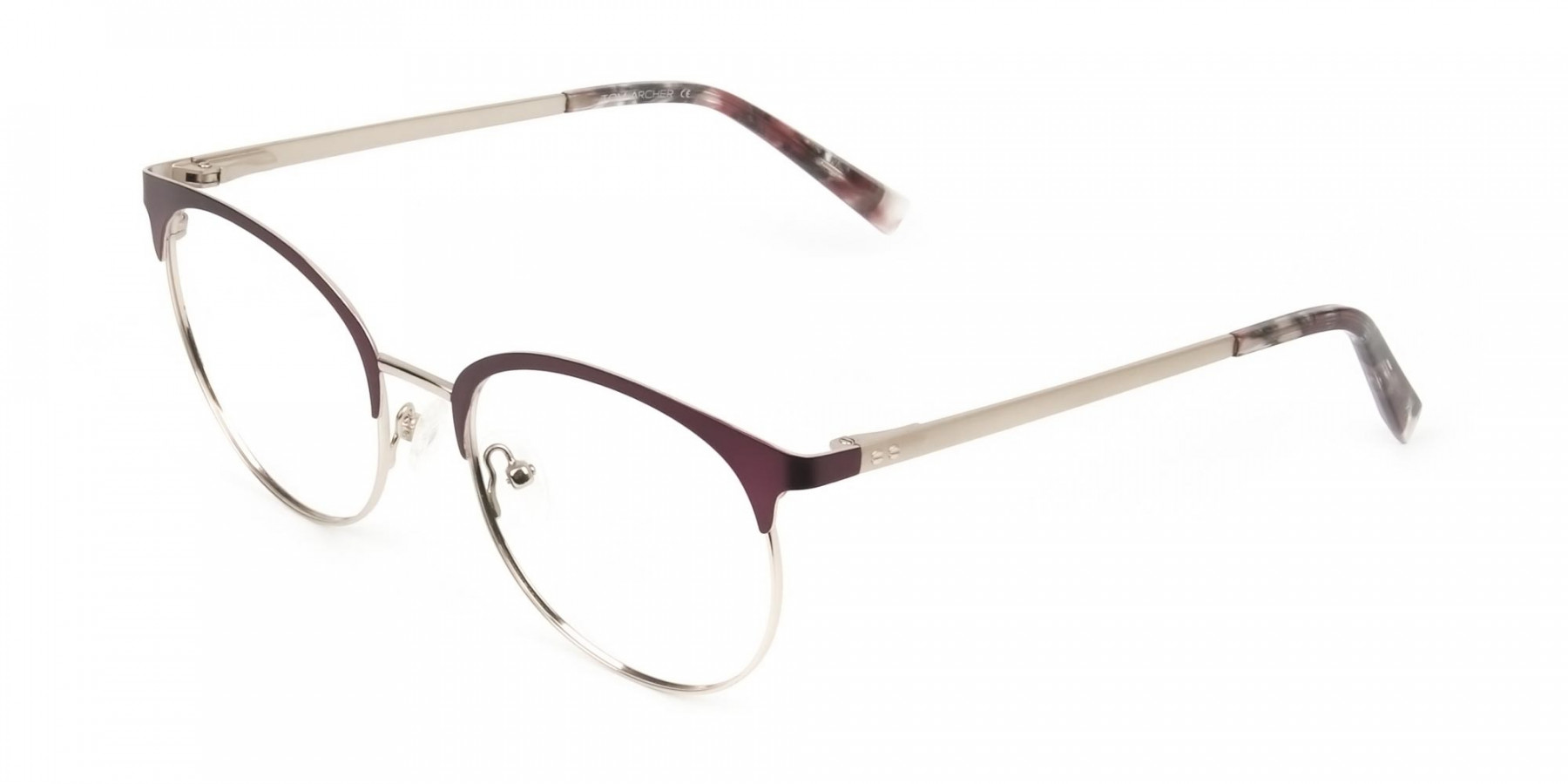 Gold Burgundy Red Clubmaster Glasses Men Women - 1