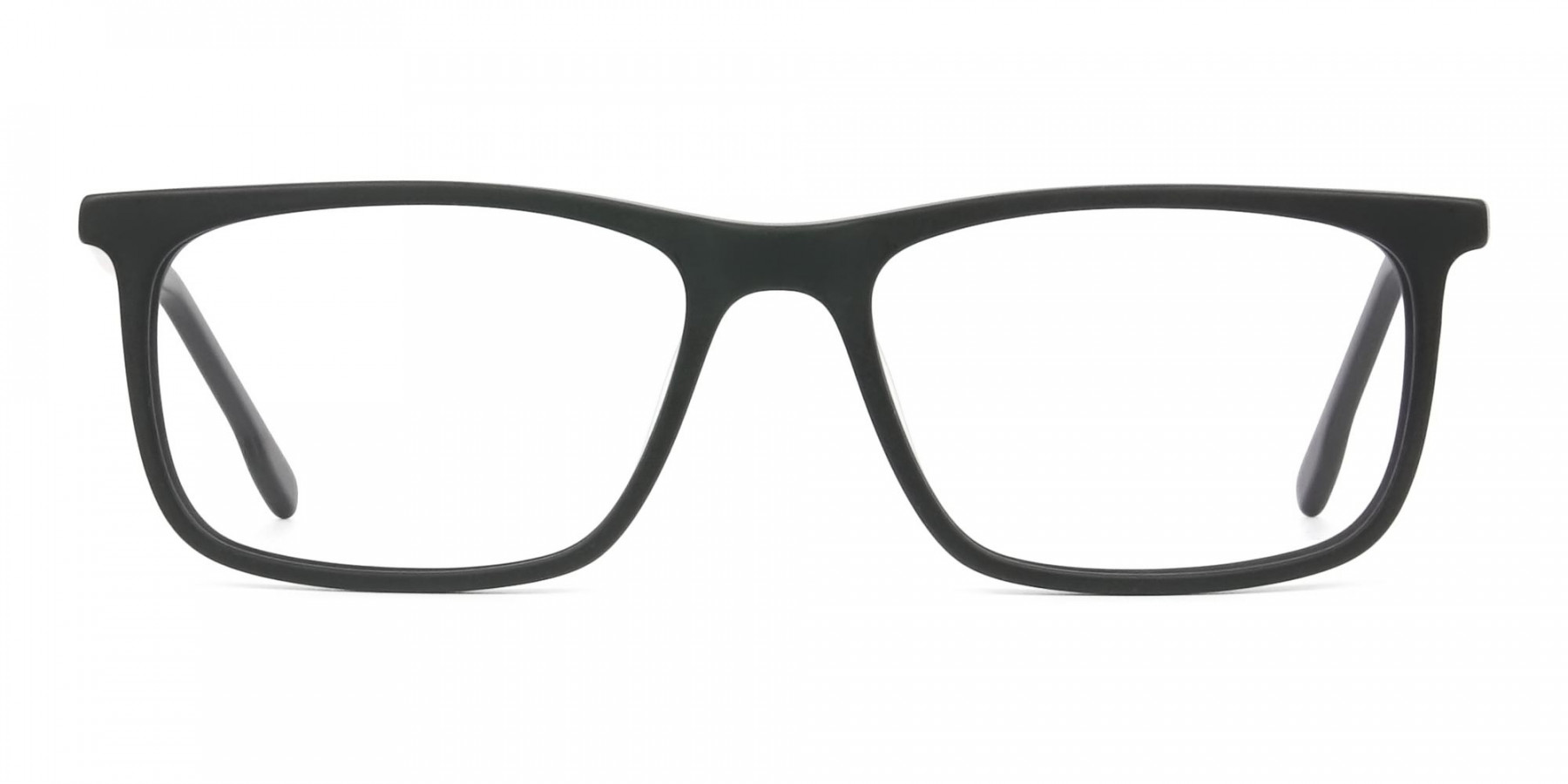 Matte Black & Red Acetate Spectacles - 1