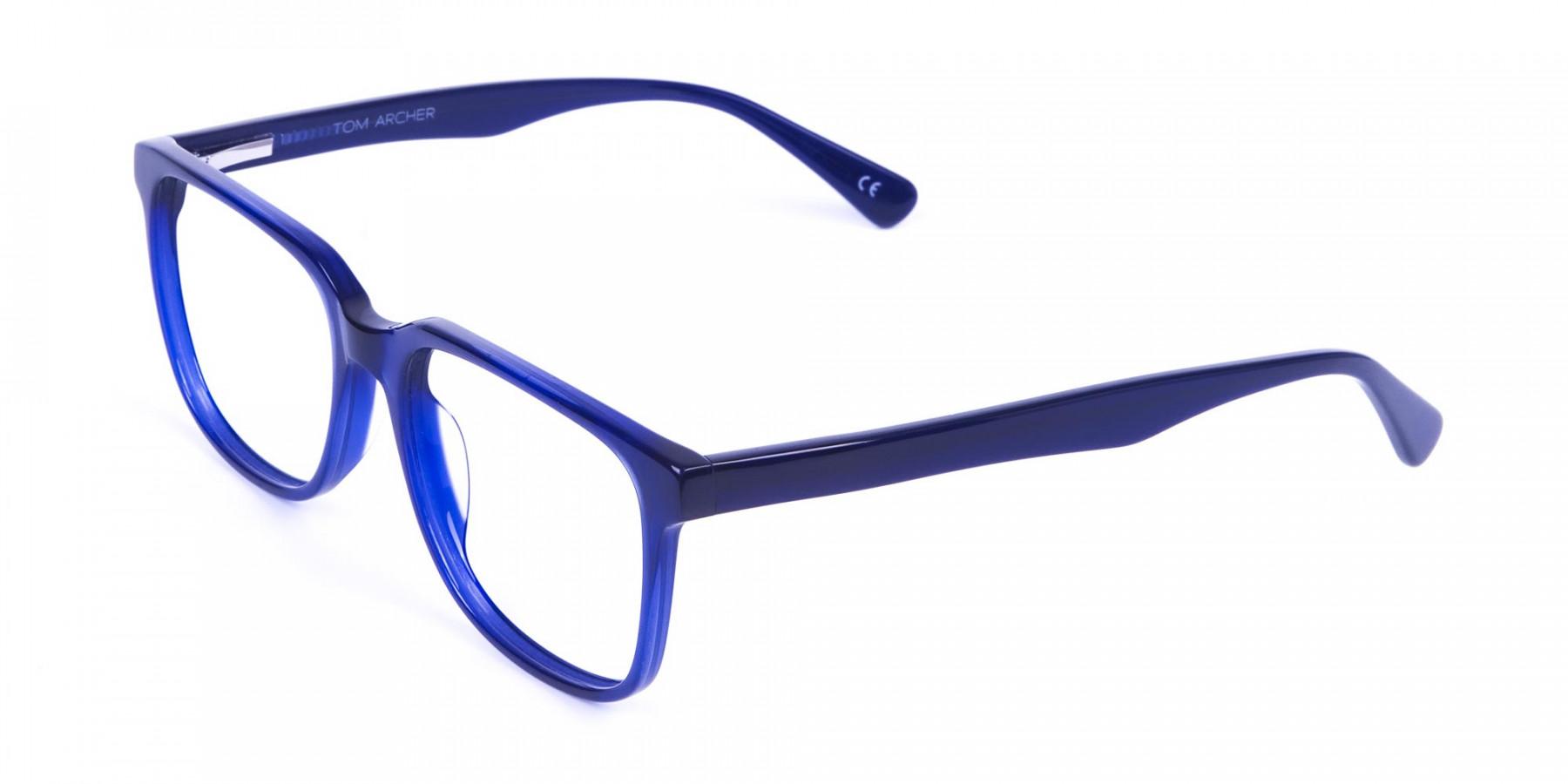 Acetate Navy Blue Wayfarer Glasses Frames - 1