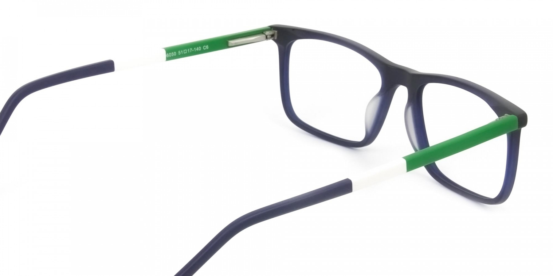 Green & Matte Navy Blue Spectacles - 1