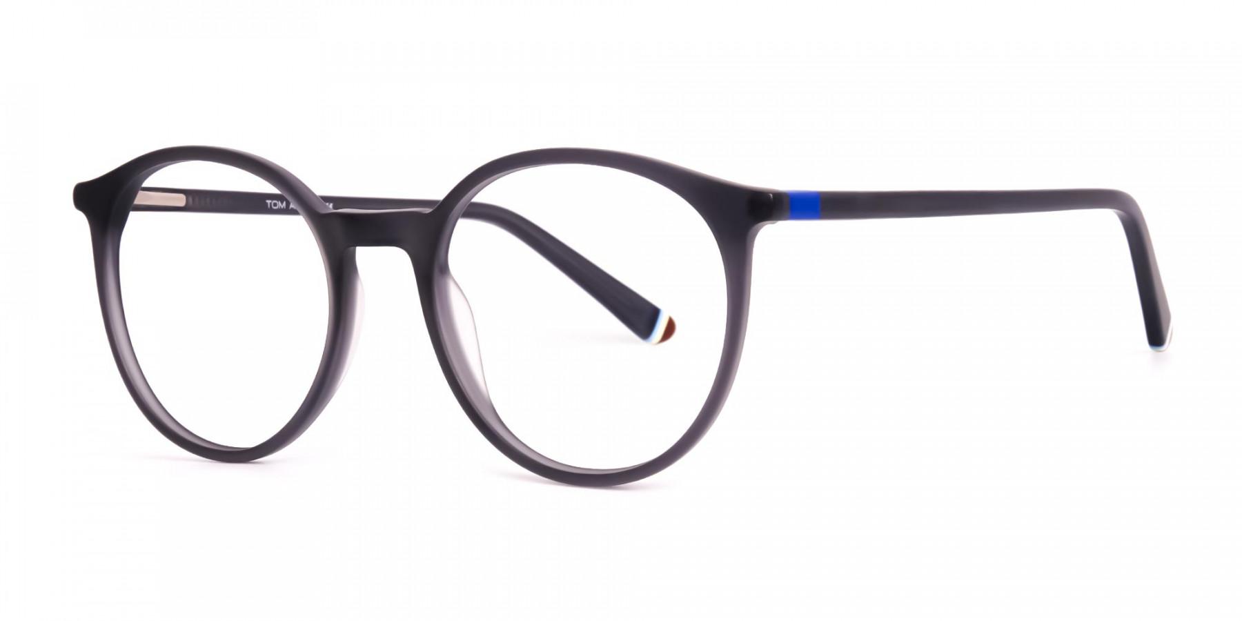 matte-and-dark-grey round-full-rim-glasses-frames-1