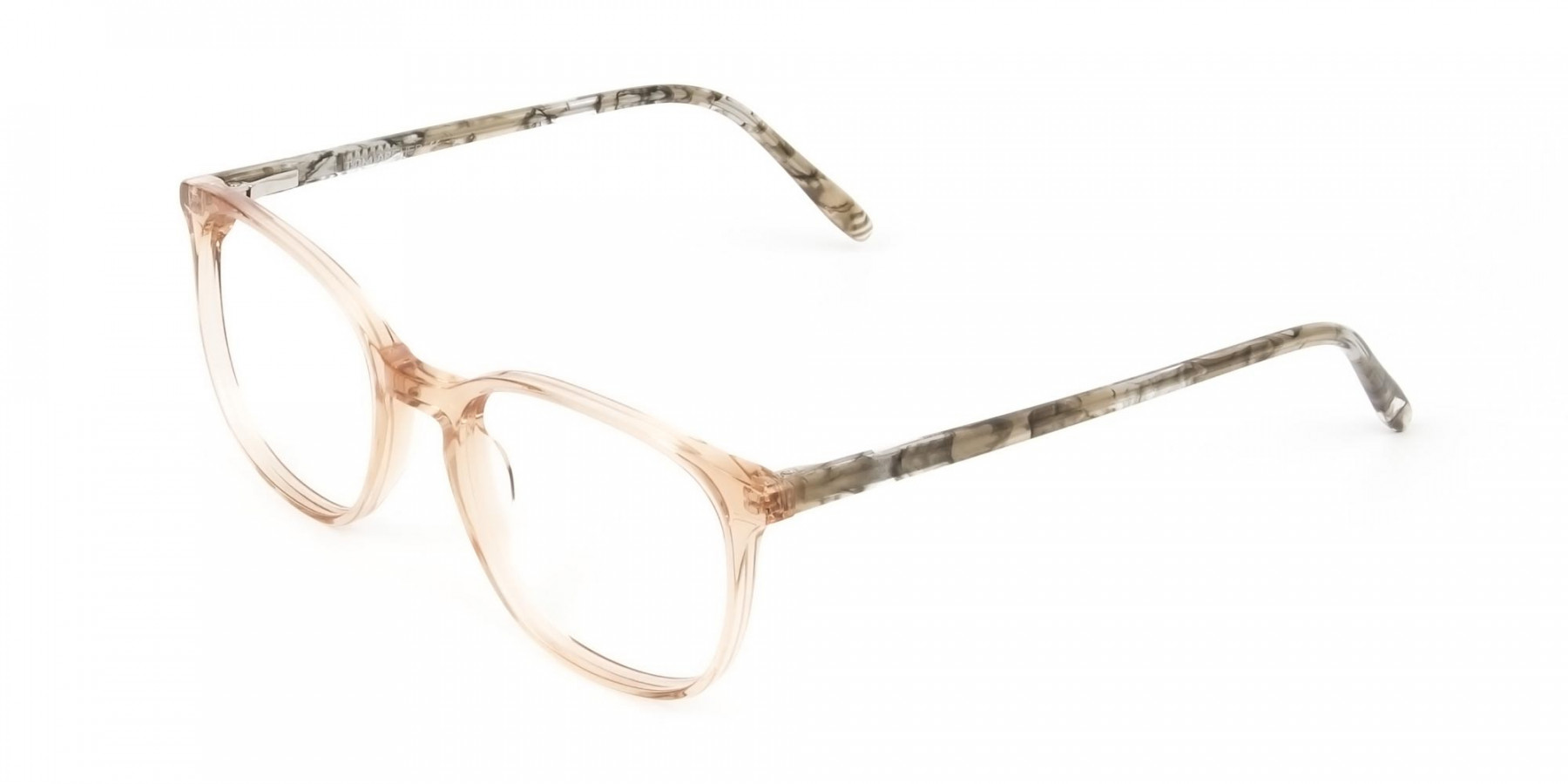 Crystal Brown Glasses with & Grey Amber Marble Temple - 1