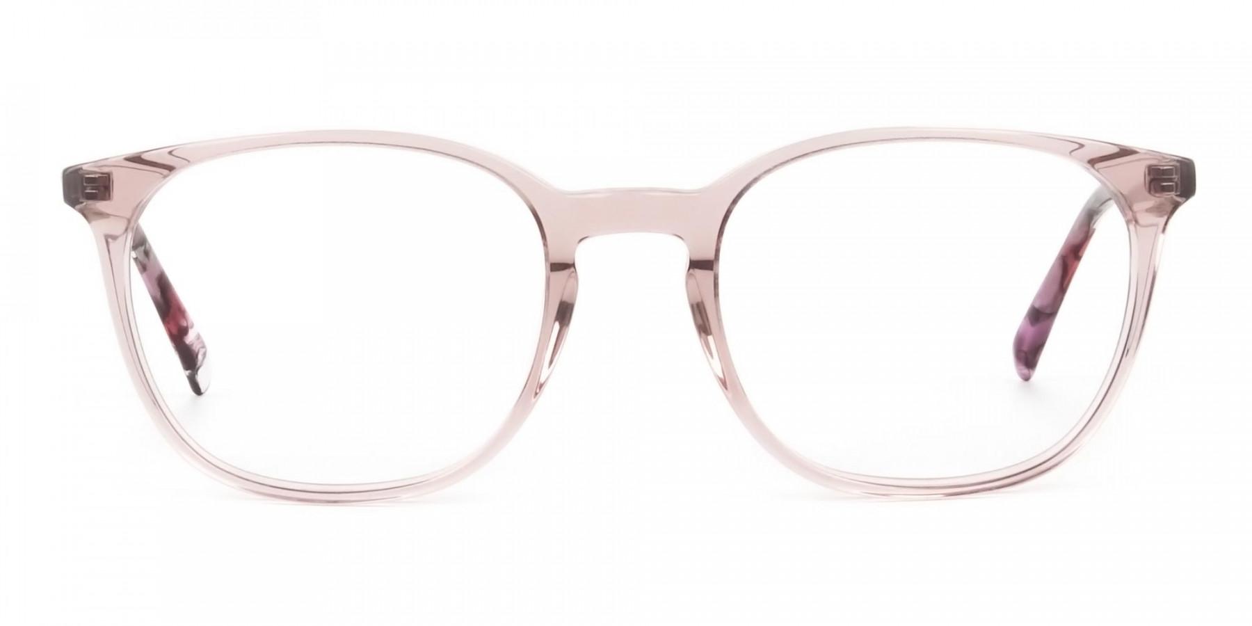 Crystal Pink Eyeglasses in Wayfarer - 1