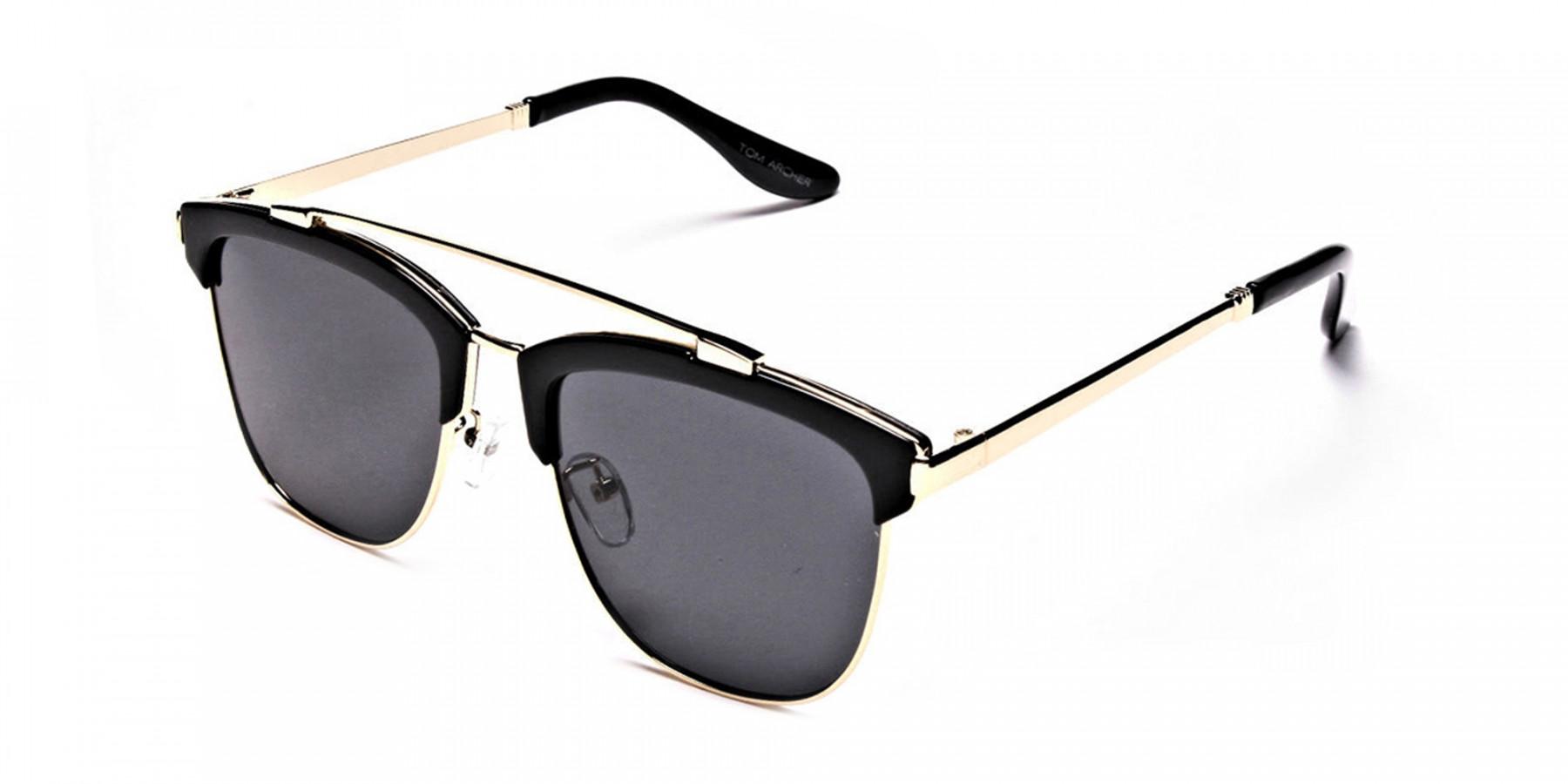 Grace's DESIGNER gold & black sunglasses -2