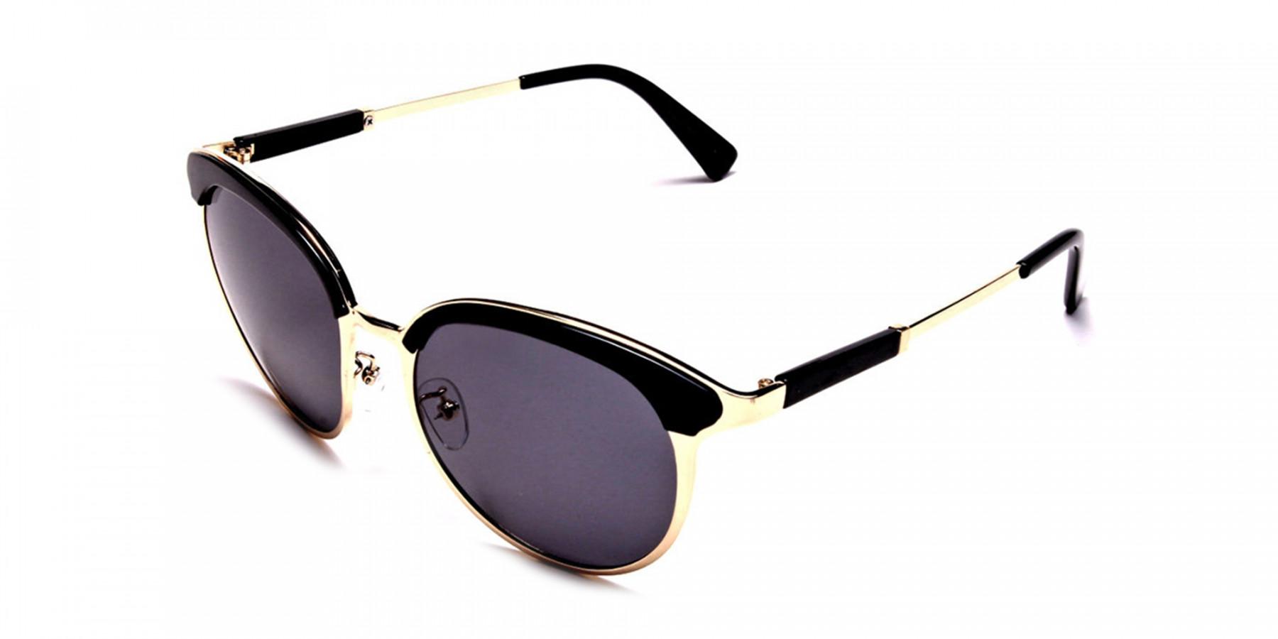 GOLD ROUND Sunglasses -2