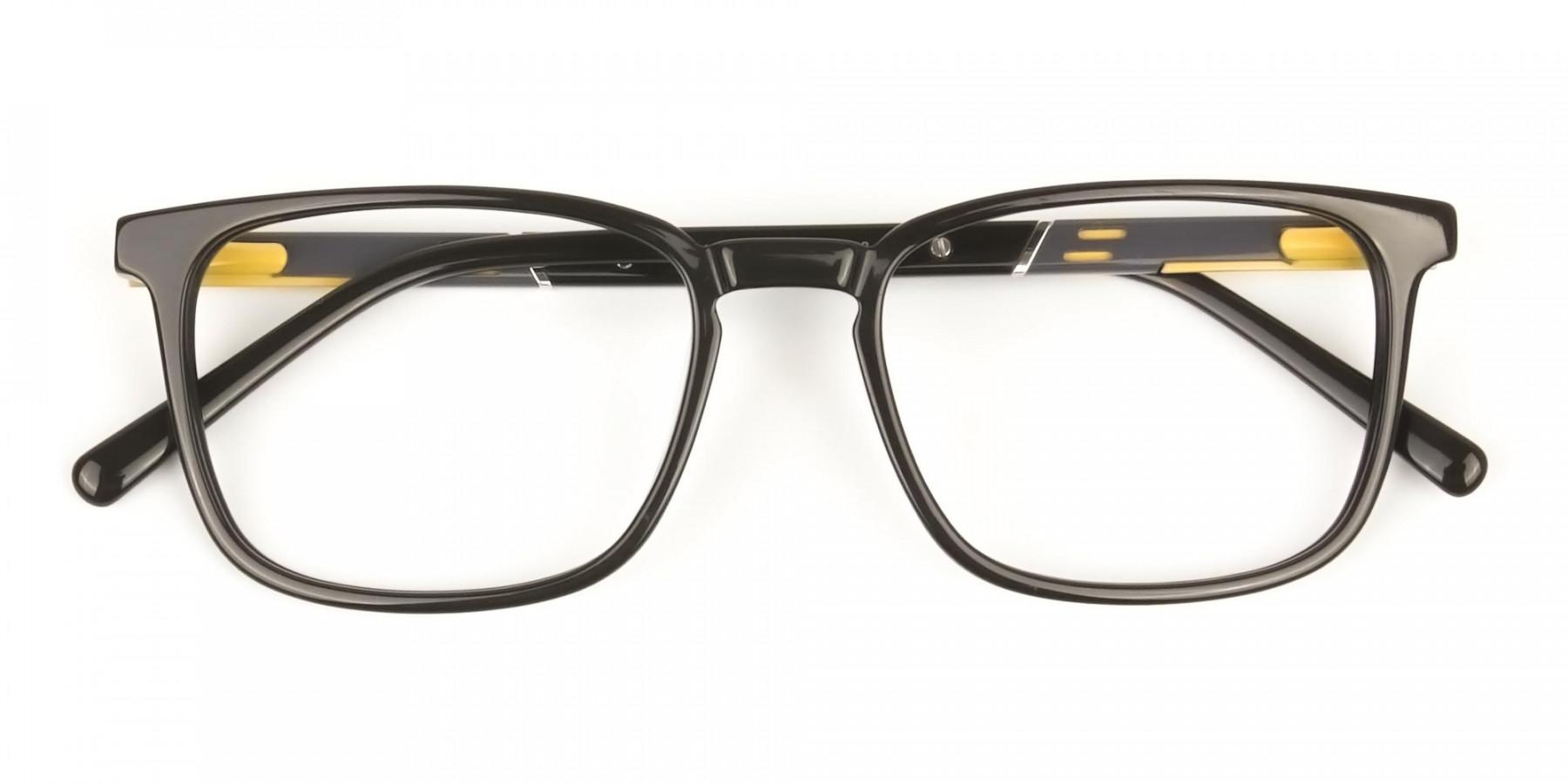 Lightweight Dark Brown Sport Style Rectangular Glasses - 1