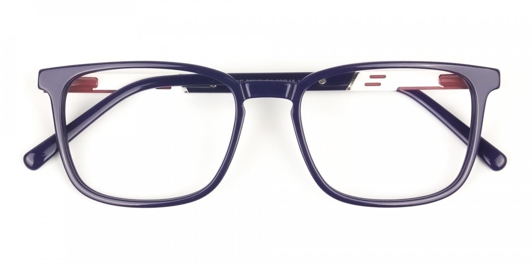 Lightweight Royal Blue Sport Style Rectangular glasses  - 1