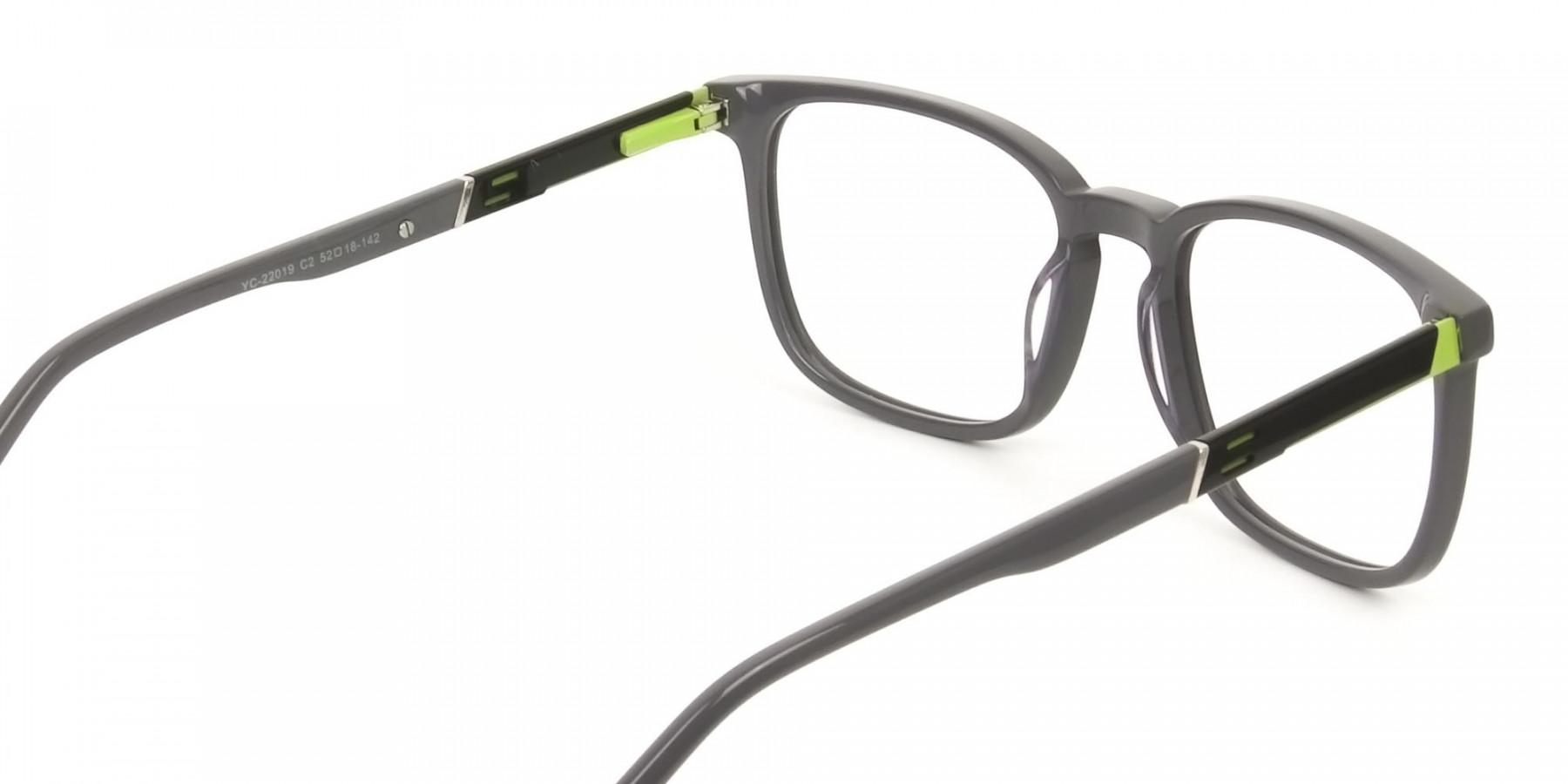 Lightweight Grey Sport style Rectangular glasses - 1