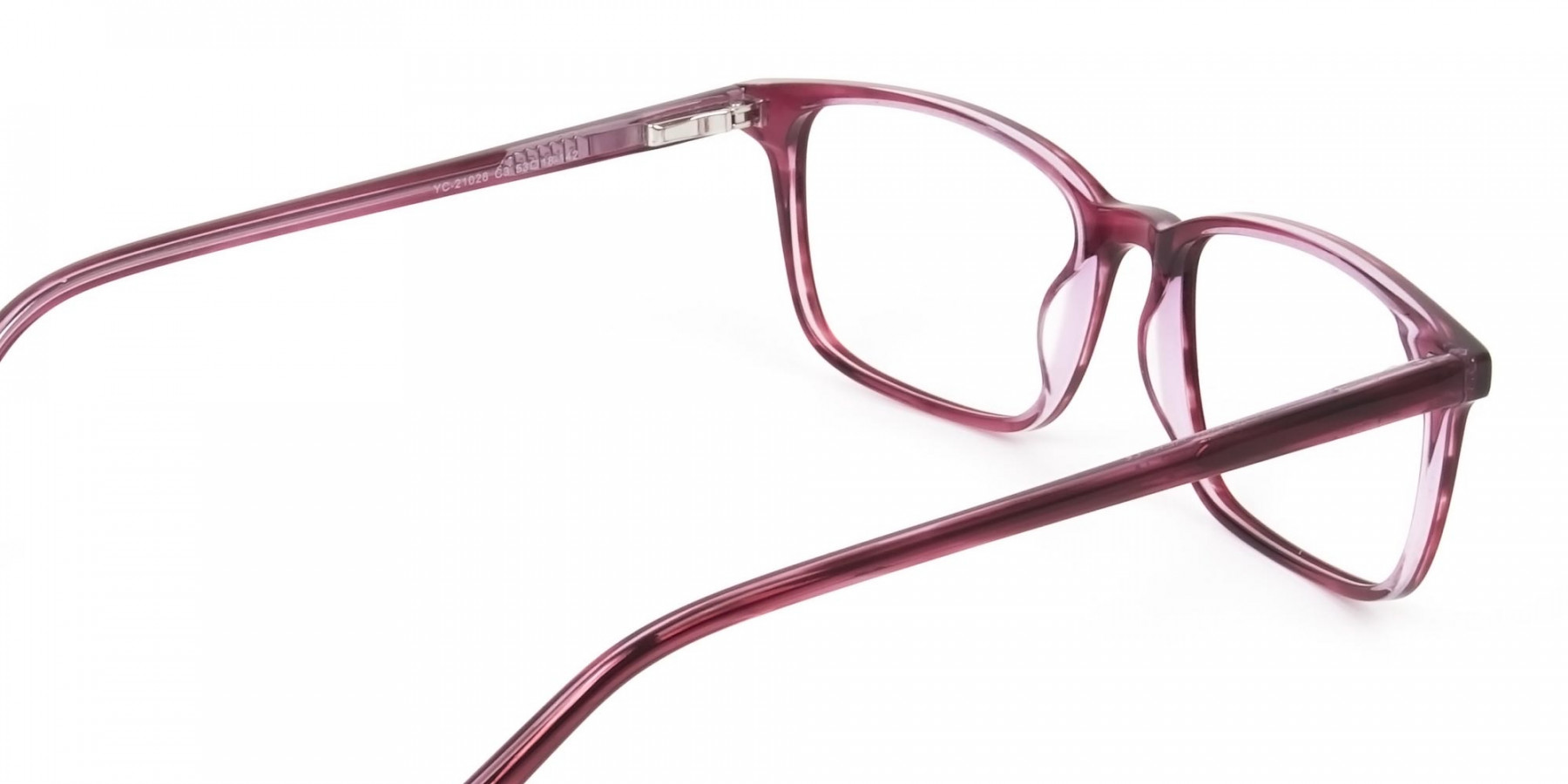 Cherry Red Eyeglasses in Horn-Rimmed Rectangle - 1