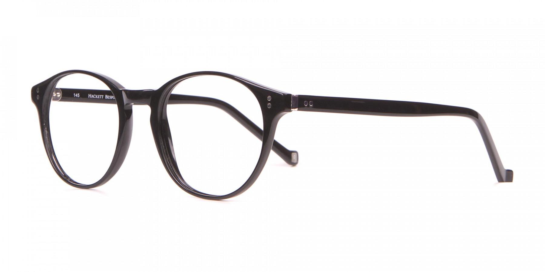 HACKETT Bespoke HEB218 Petite Round Glasses In Black -1