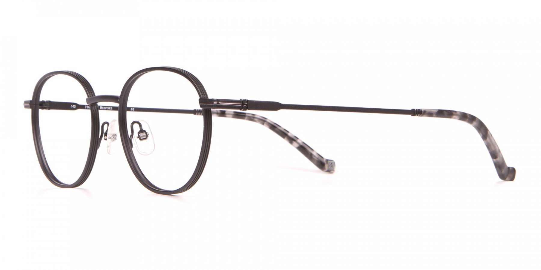 HACKETT HEB222 Bespoke Metal Classic Round Glasses Black-1