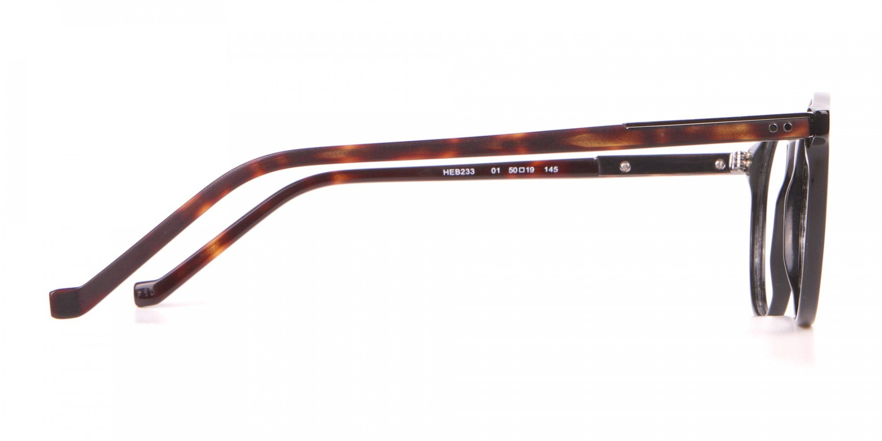 HACKETT HEB233 Bespoke Retro Round Frame Black & Tortoise-1