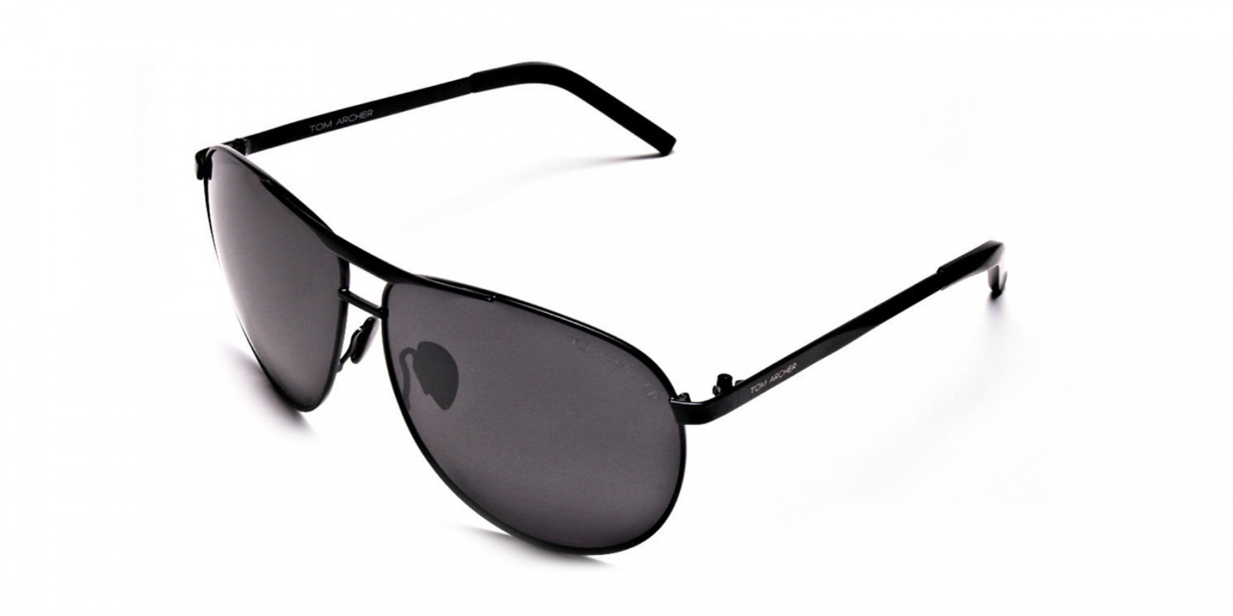 Luxurious Aviator Sunglasses in Black - 2