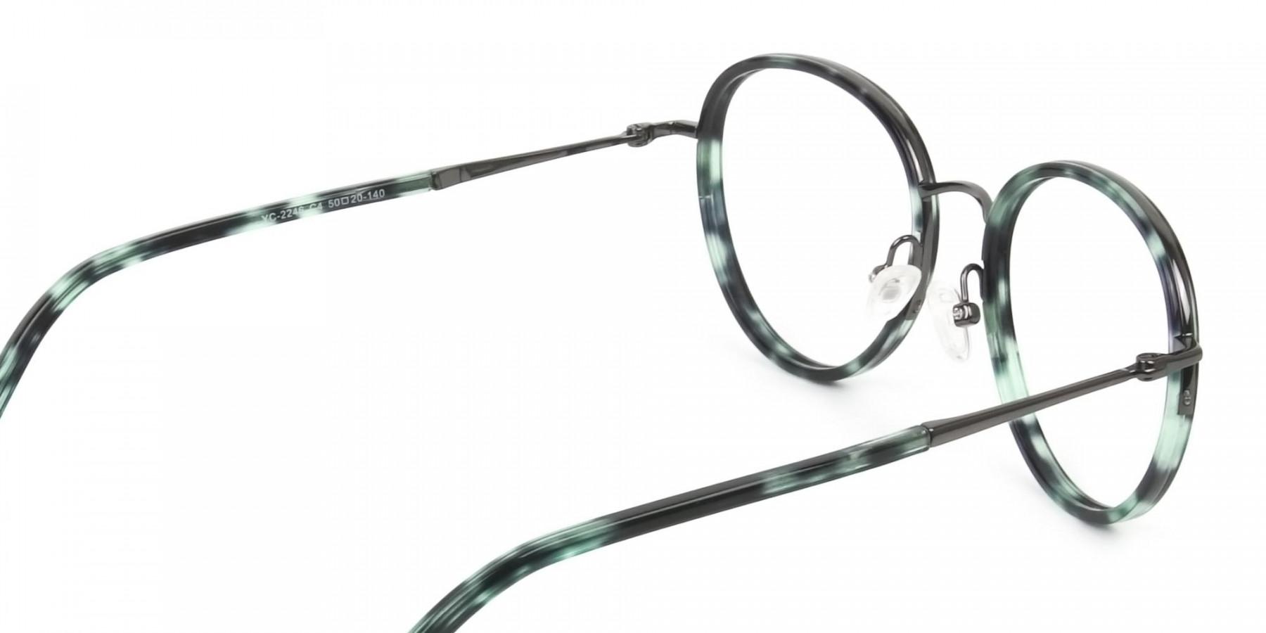 Gunmetal & Jade Green Glasses Frames - 1