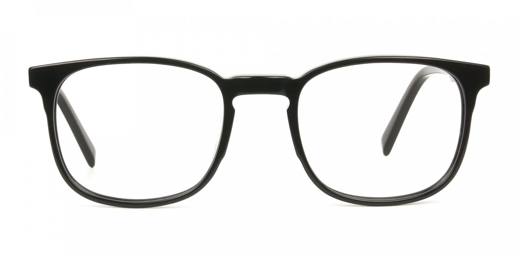 Sport Style Thick Big Black Square Glasses - 1