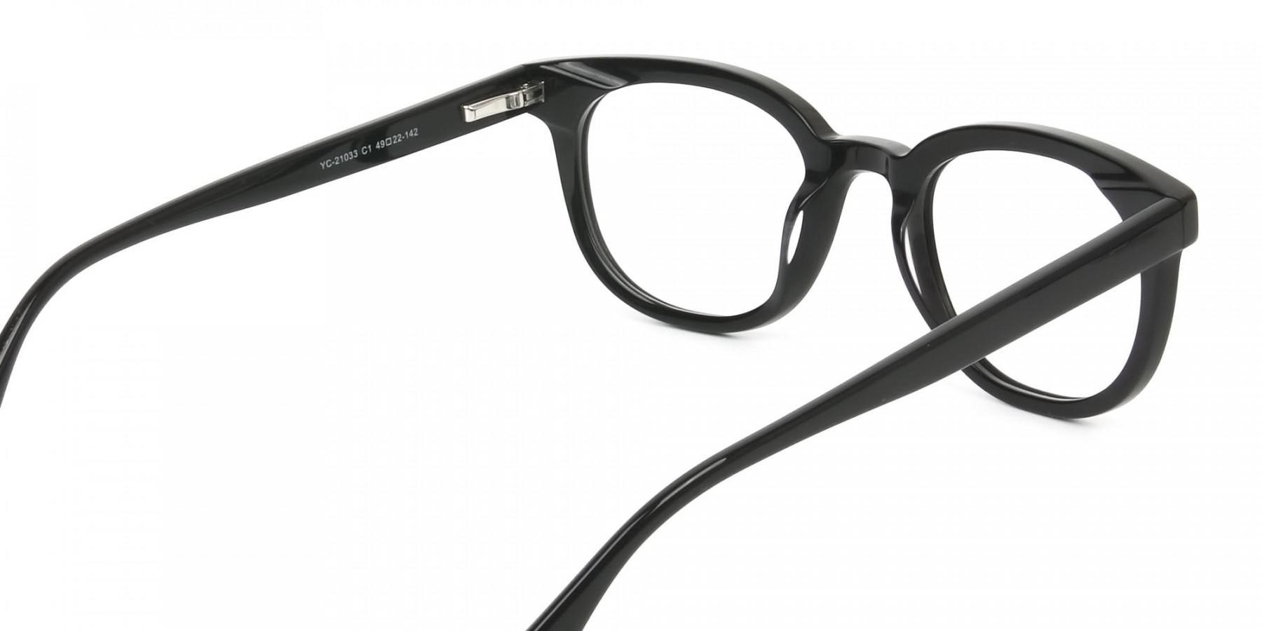 Black Vintage Horn Glasses in Wayfarer - 1