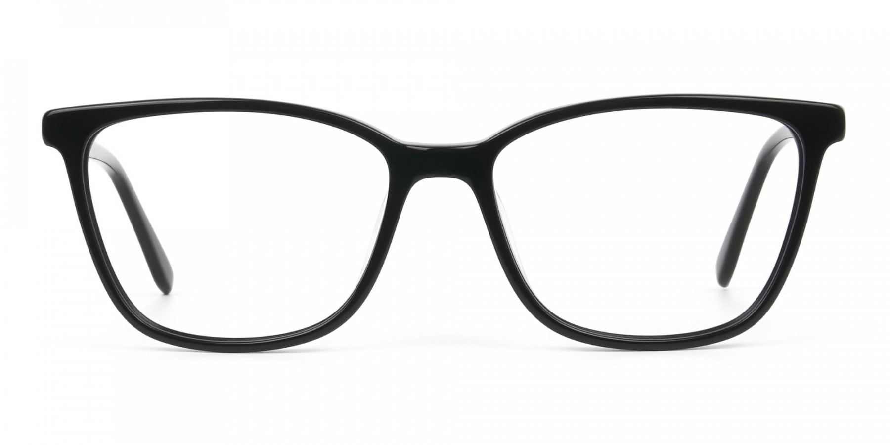 Women Nerd Black Acetate Spectacles in Rectangular - 1