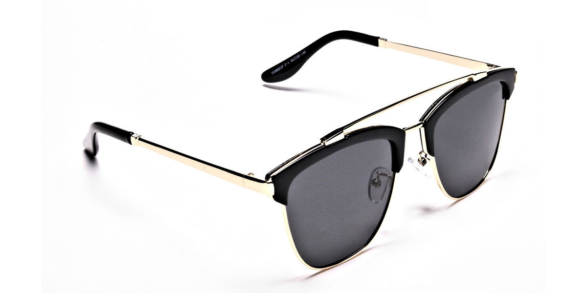 Grace's DESIGNER gold & black sunglasses -2