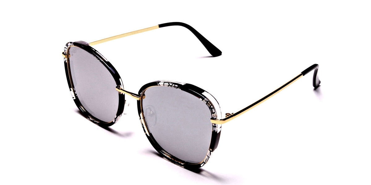 Black Mixed Colour Sunglasses - 2