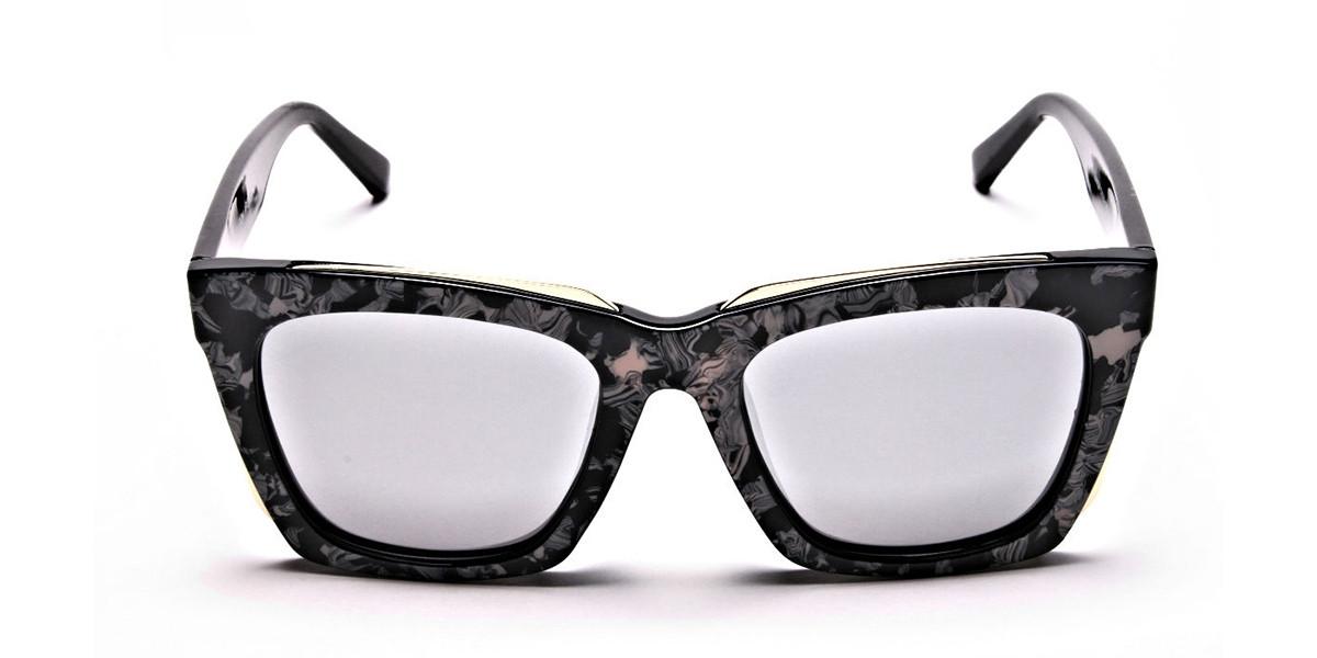 Tortoiseshell Silver Sunglasses -2