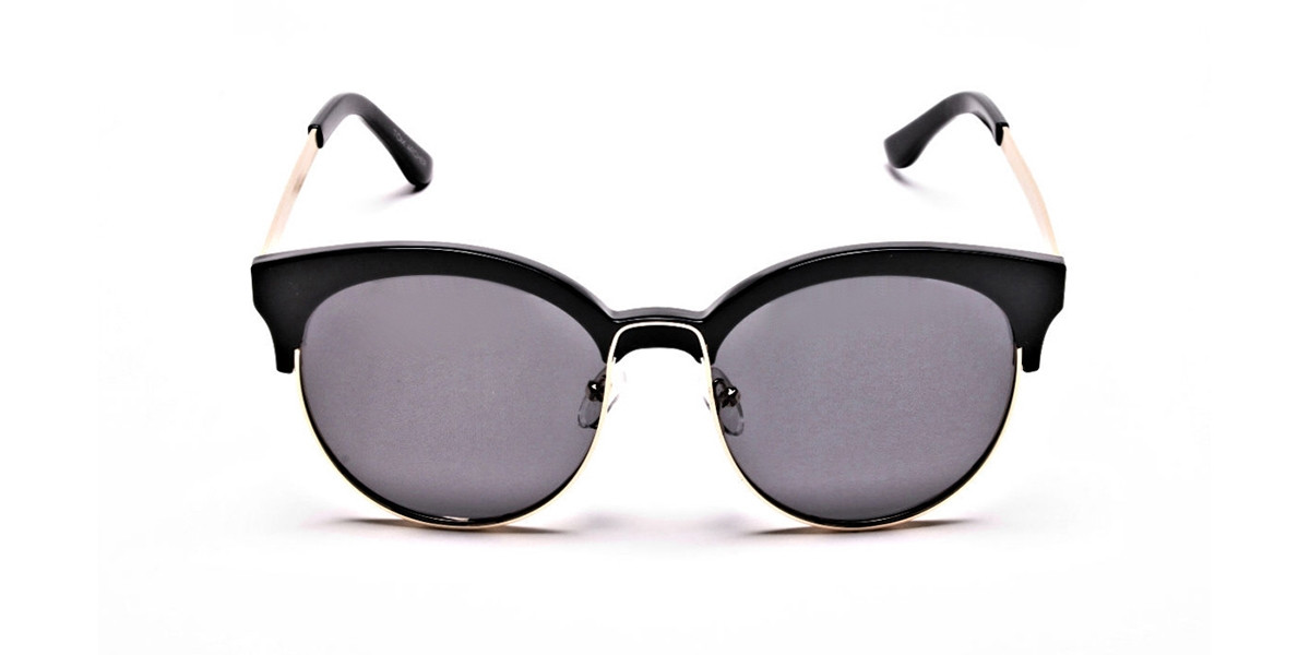 Gold & Black Browline Sunglasses -2