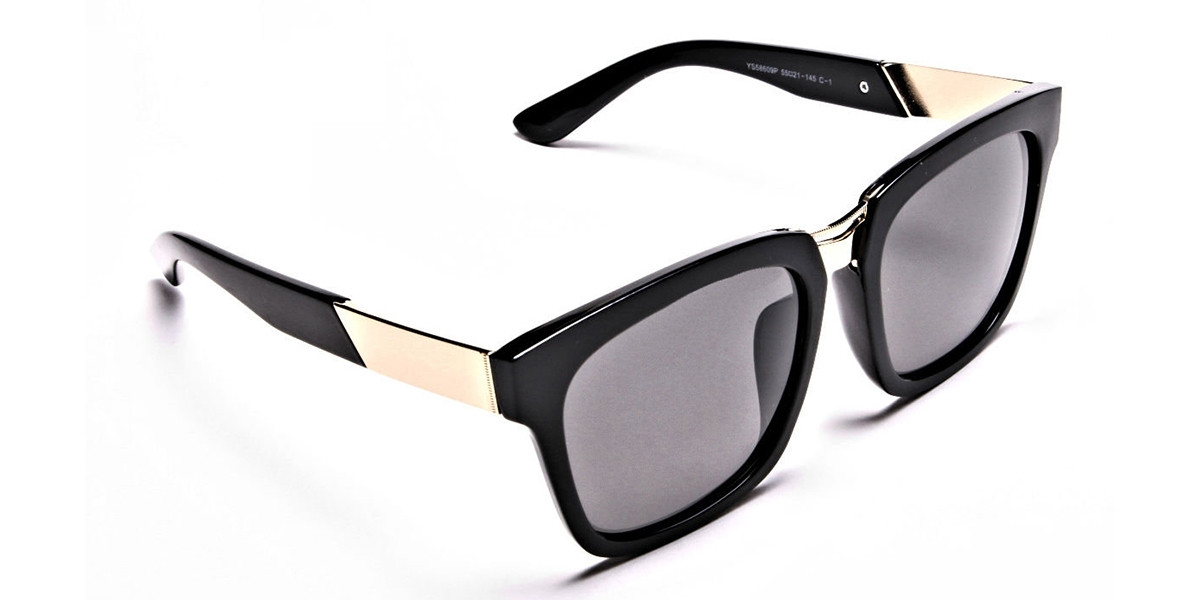 Wayfarers Black and Grey Sunglasses -2