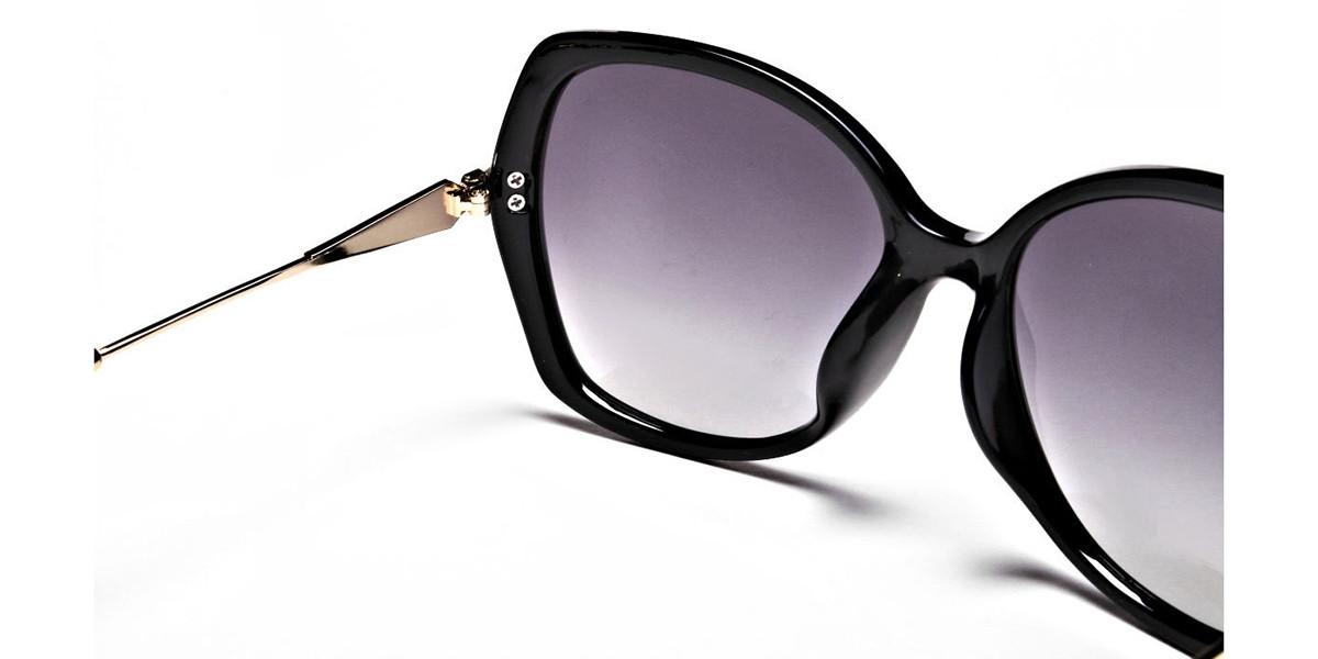 Black & Gold Oversized Glasses- 2