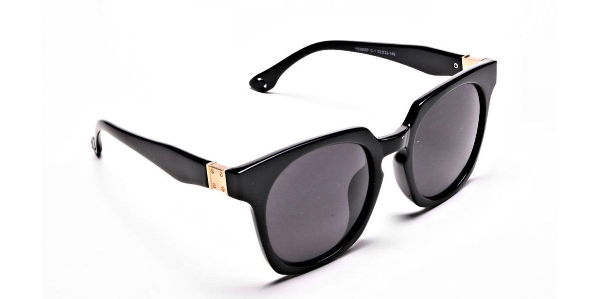 Dark Black & Grey Sunglasses -2