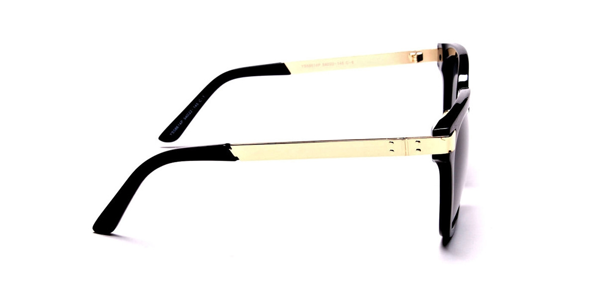 Gold Sides & Black Front Sunglasses -2
